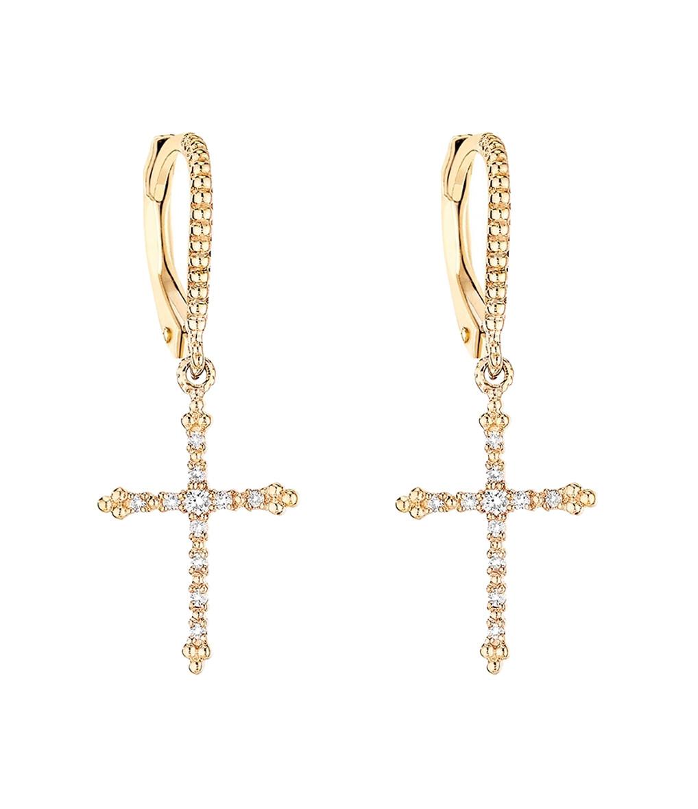 Boucles d'oreilles Grace Or Diamants - Stone