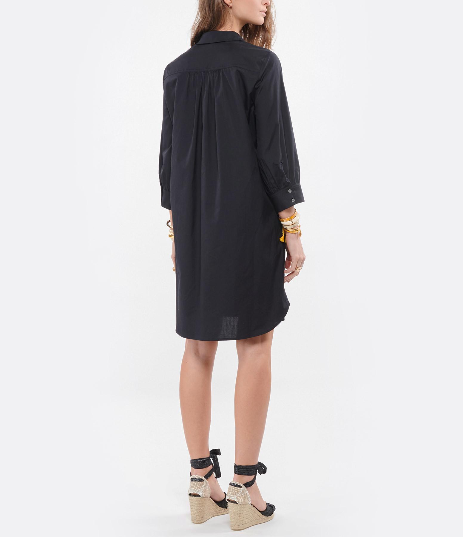 HANA SAN - Robe Chemise Suji Noir