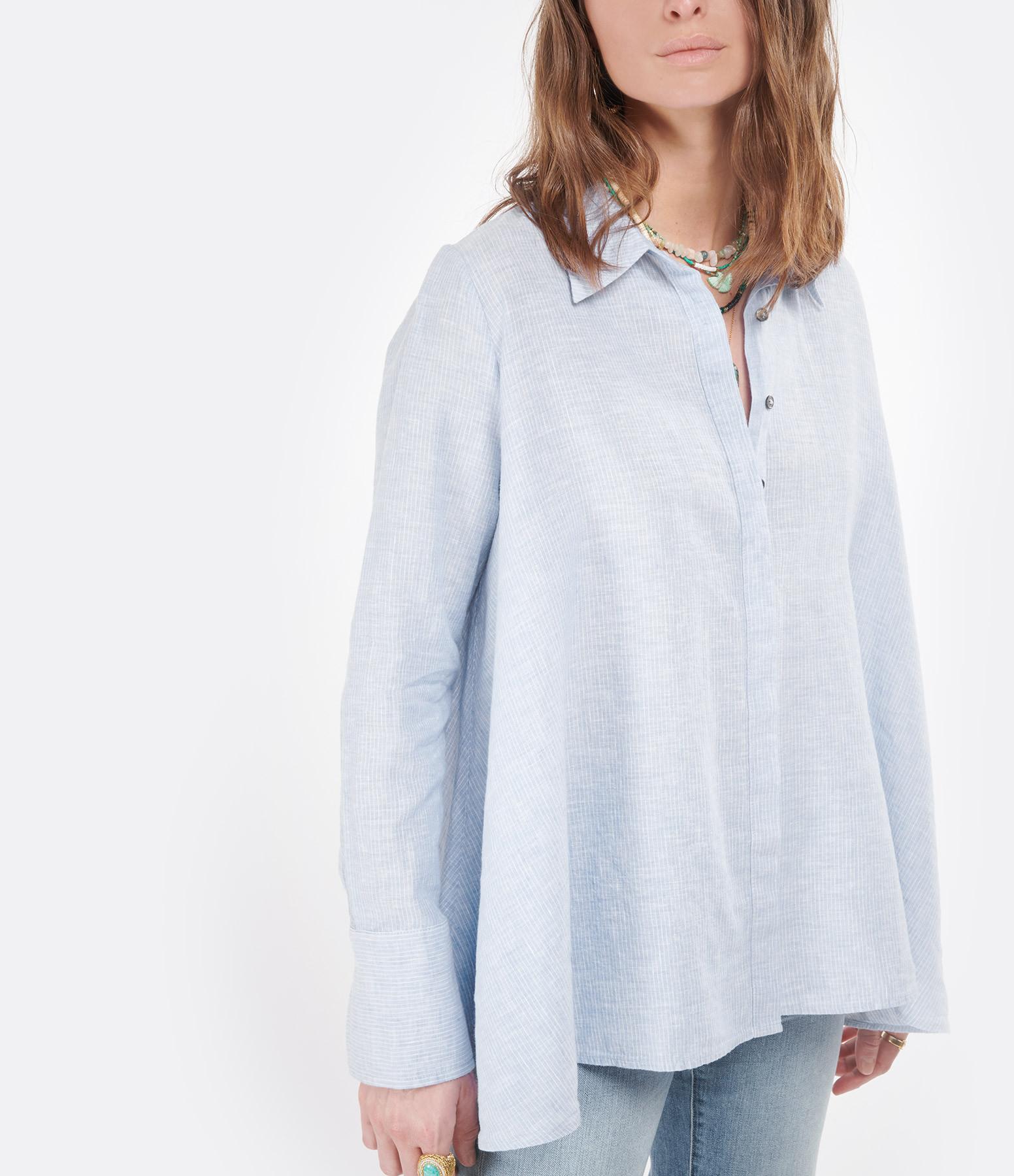 HANA SAN - Chemise Adriana Bleu