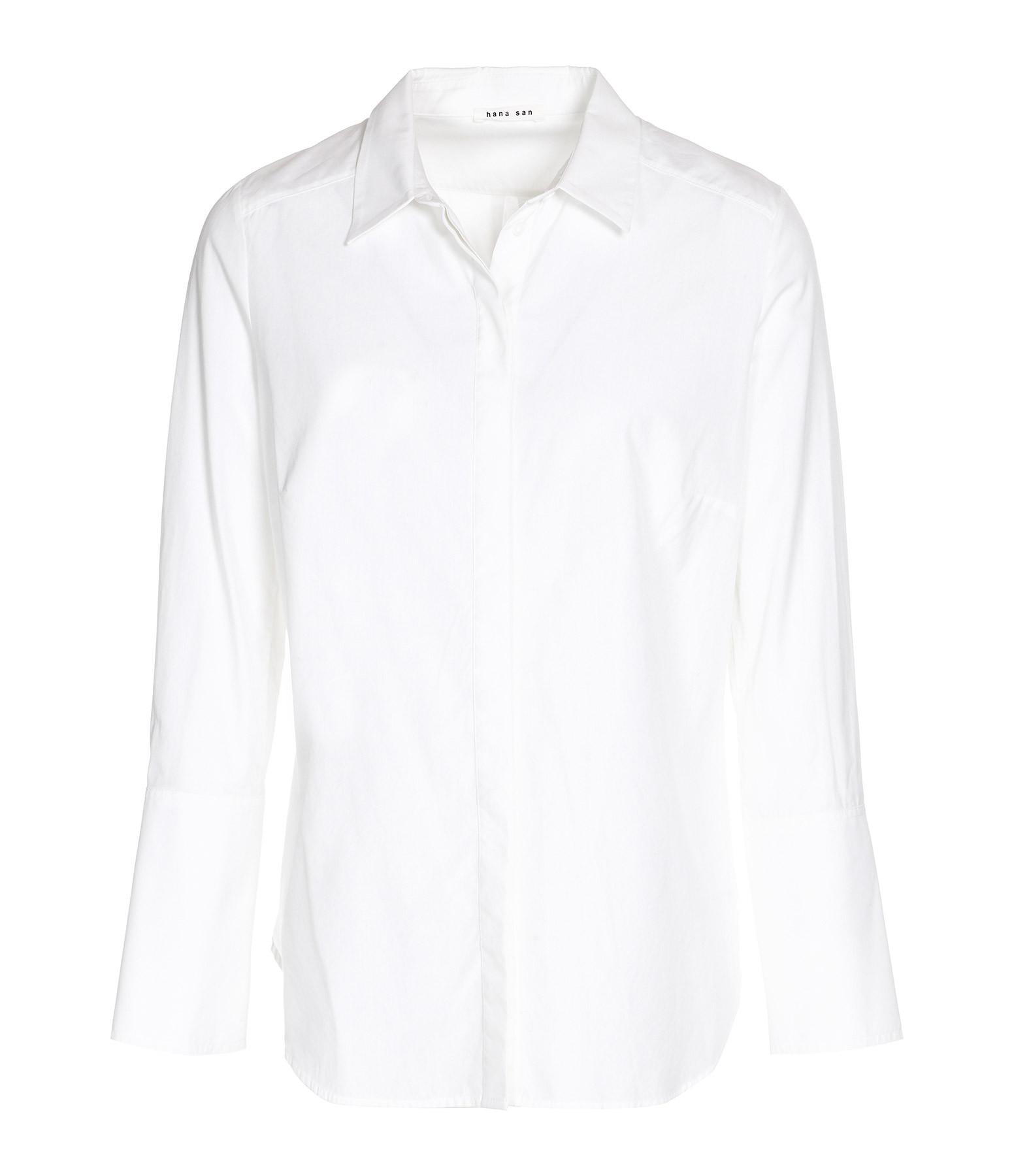 HANA SAN - Chemise Ema Coton Blanc