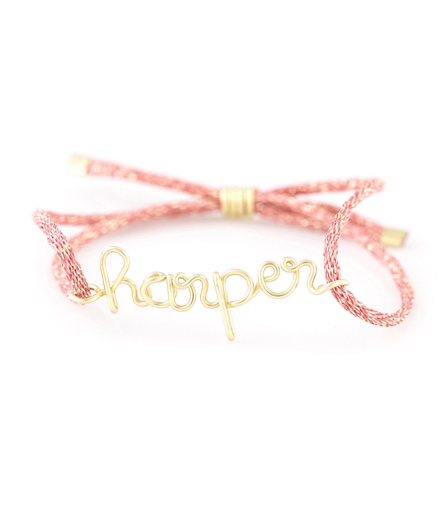 ATELIER PAULIN - Bracelet Cordon Lurex Personnalisable Gold Filled Or Jaune