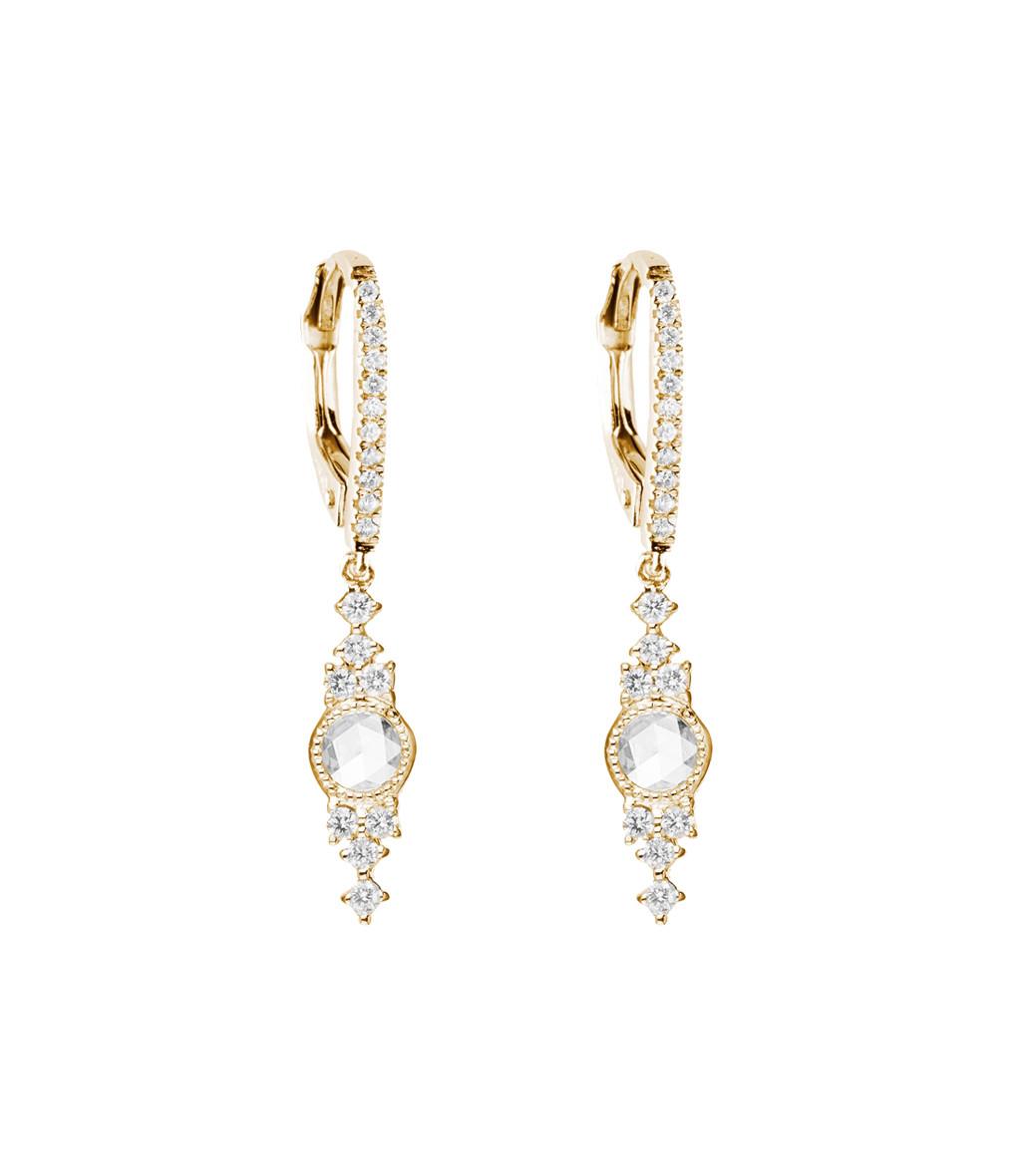 Boucles d'oreilles Himalaya Or Diamants - STONE