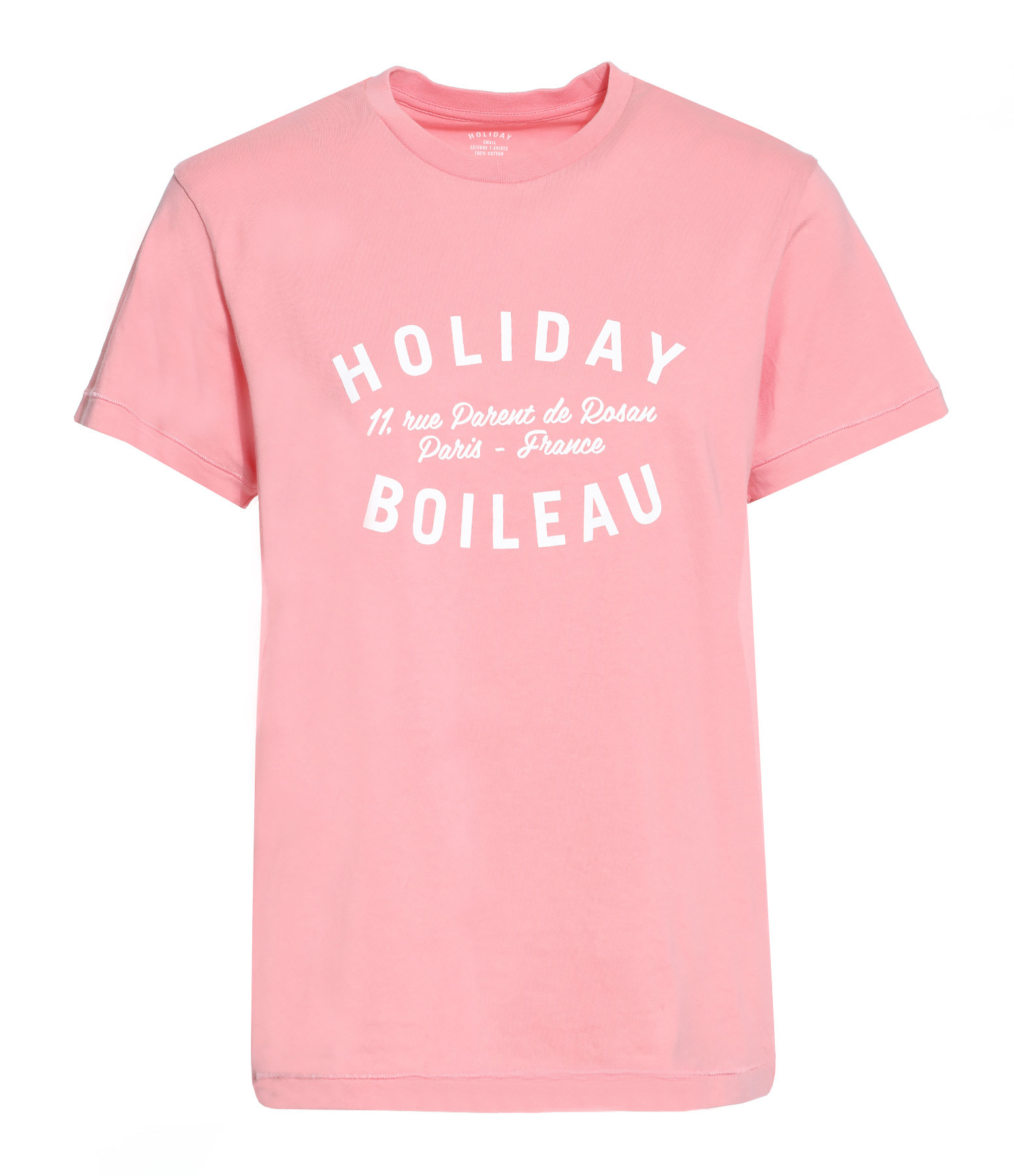 HOLIDAY - Tee-shirt Boileau Coton Rose