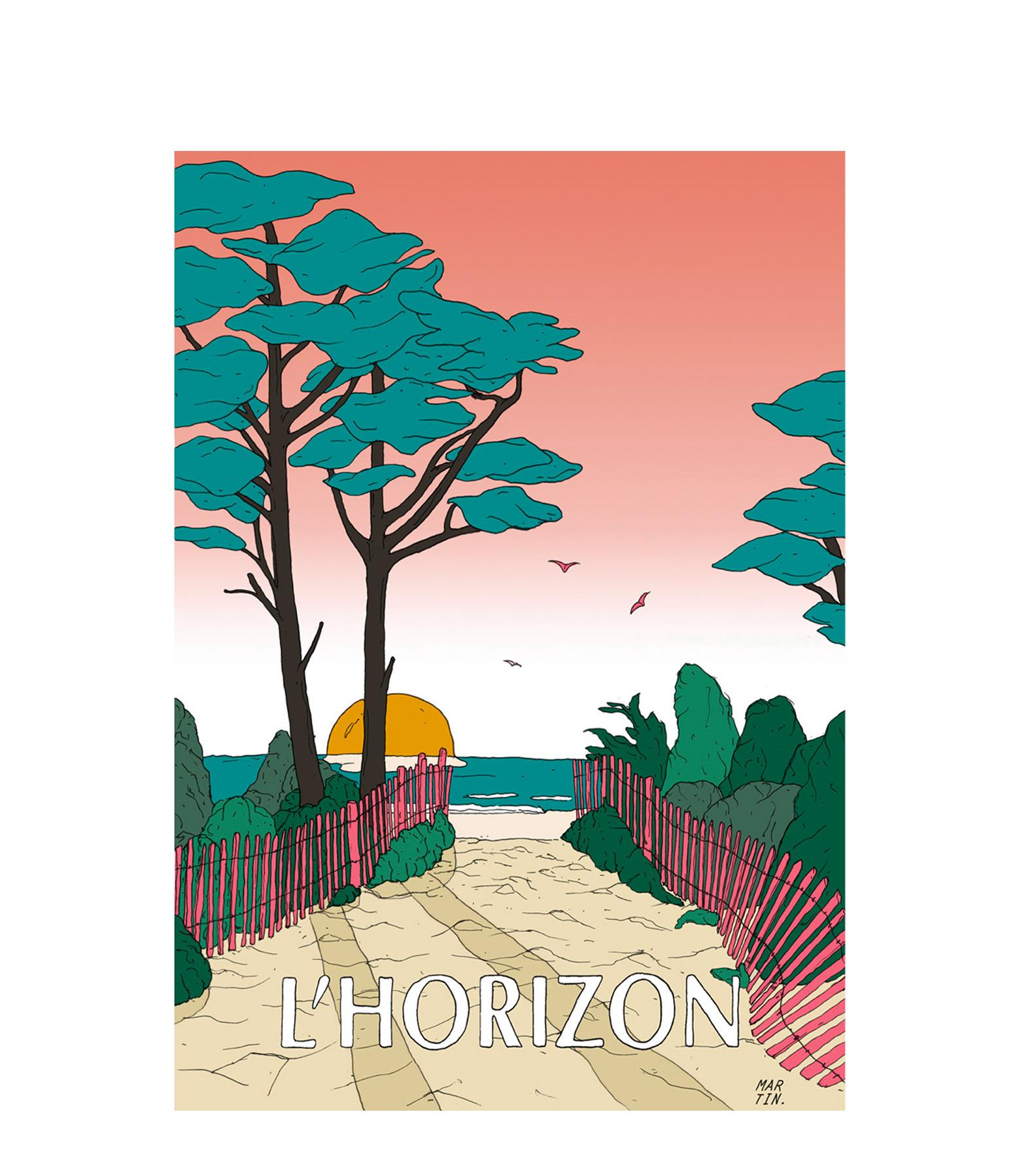 MAISON SARAH LAVOINE - Affiche L'Horizon 30x40cm