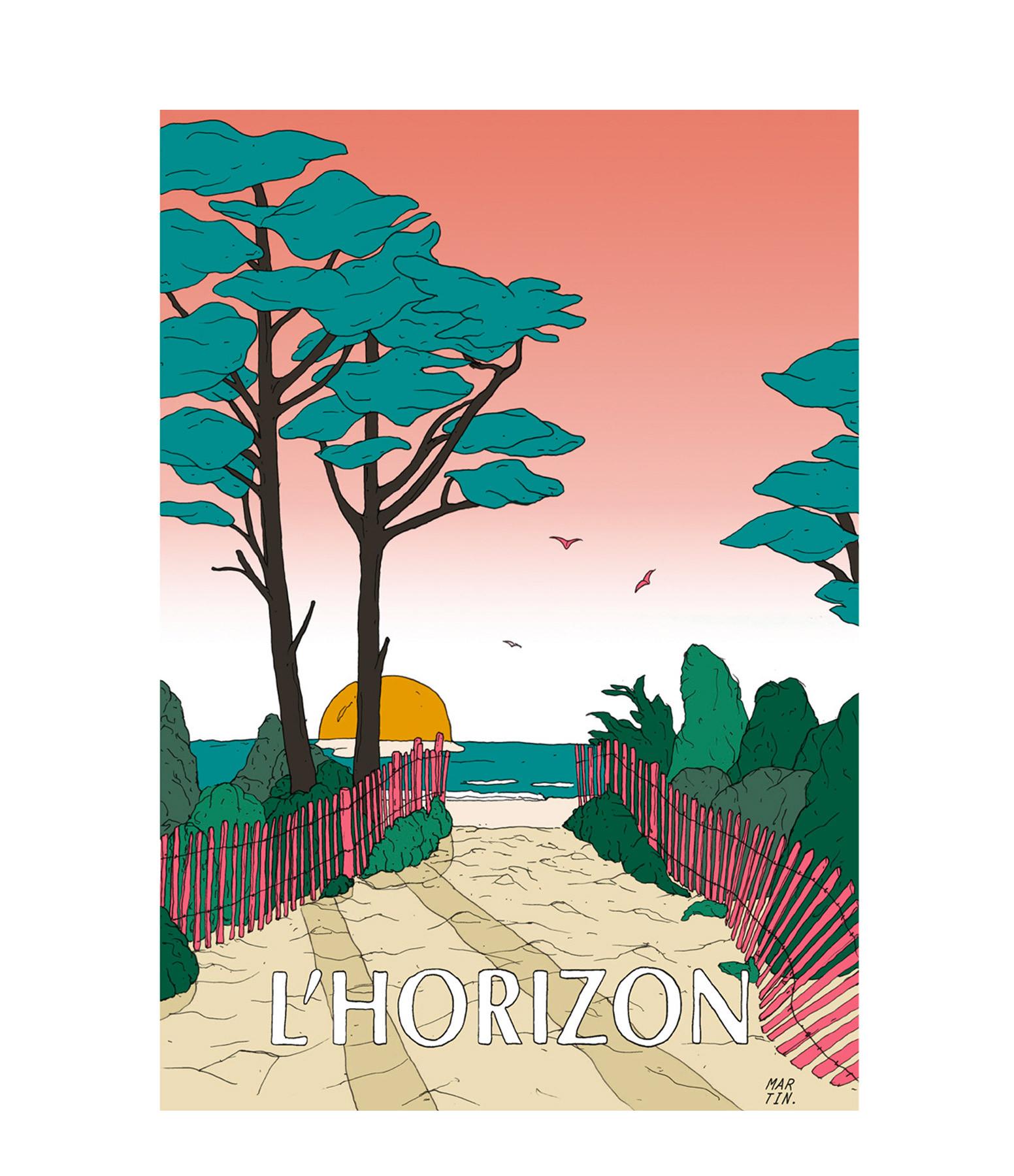 MAISON SARAH LAVOINE - Affiche L'Horizon 50x70cm