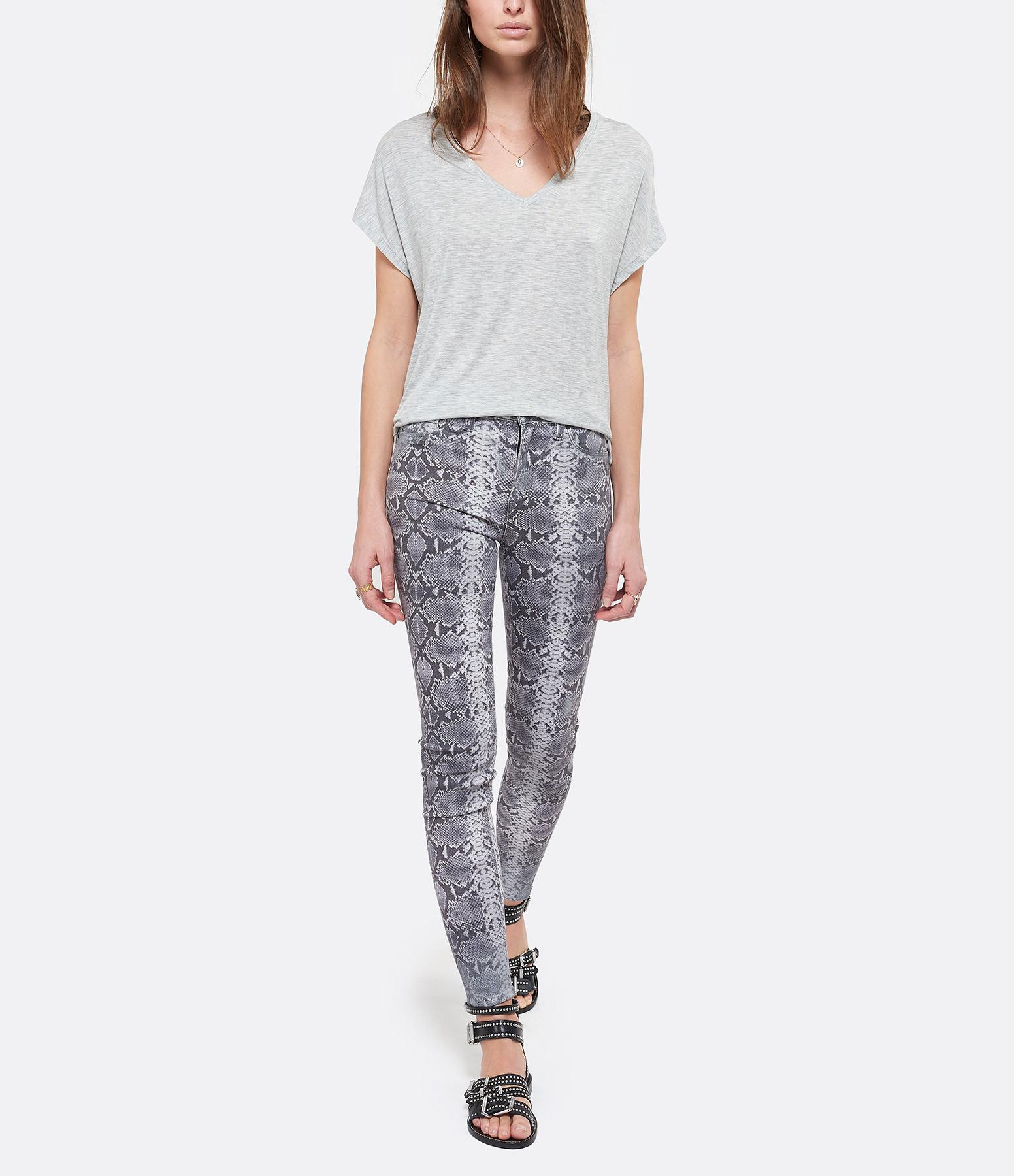 HUDSON JEANS - Pantalon Barabara Skinny Metallic Python