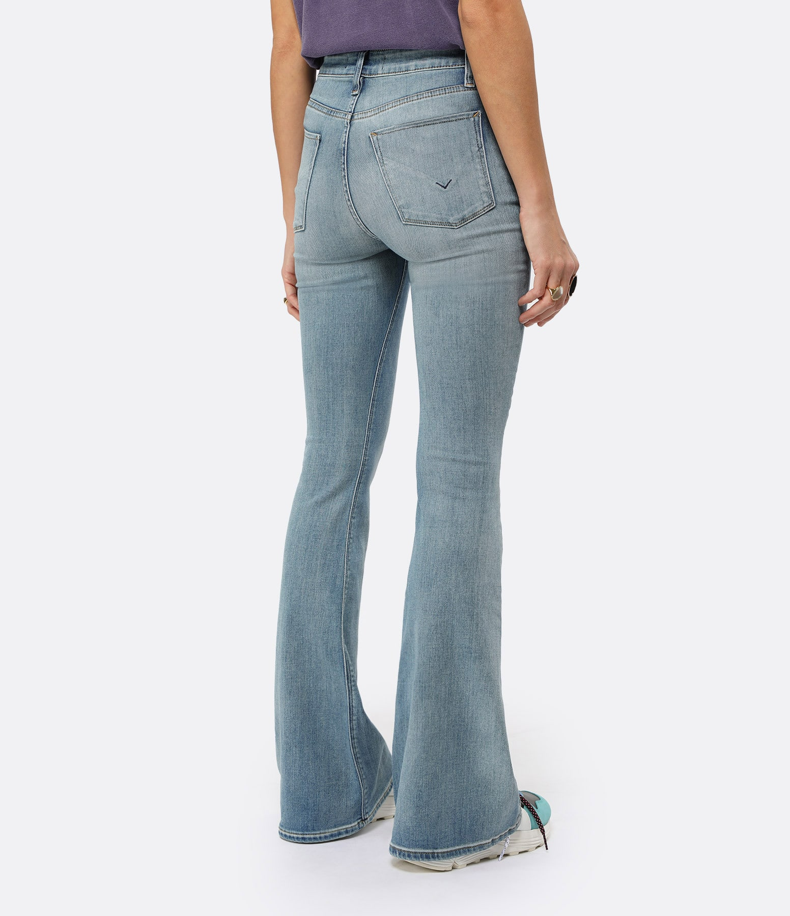 HUDSON JEANS - Jean Holly High Rise Flare Word Play