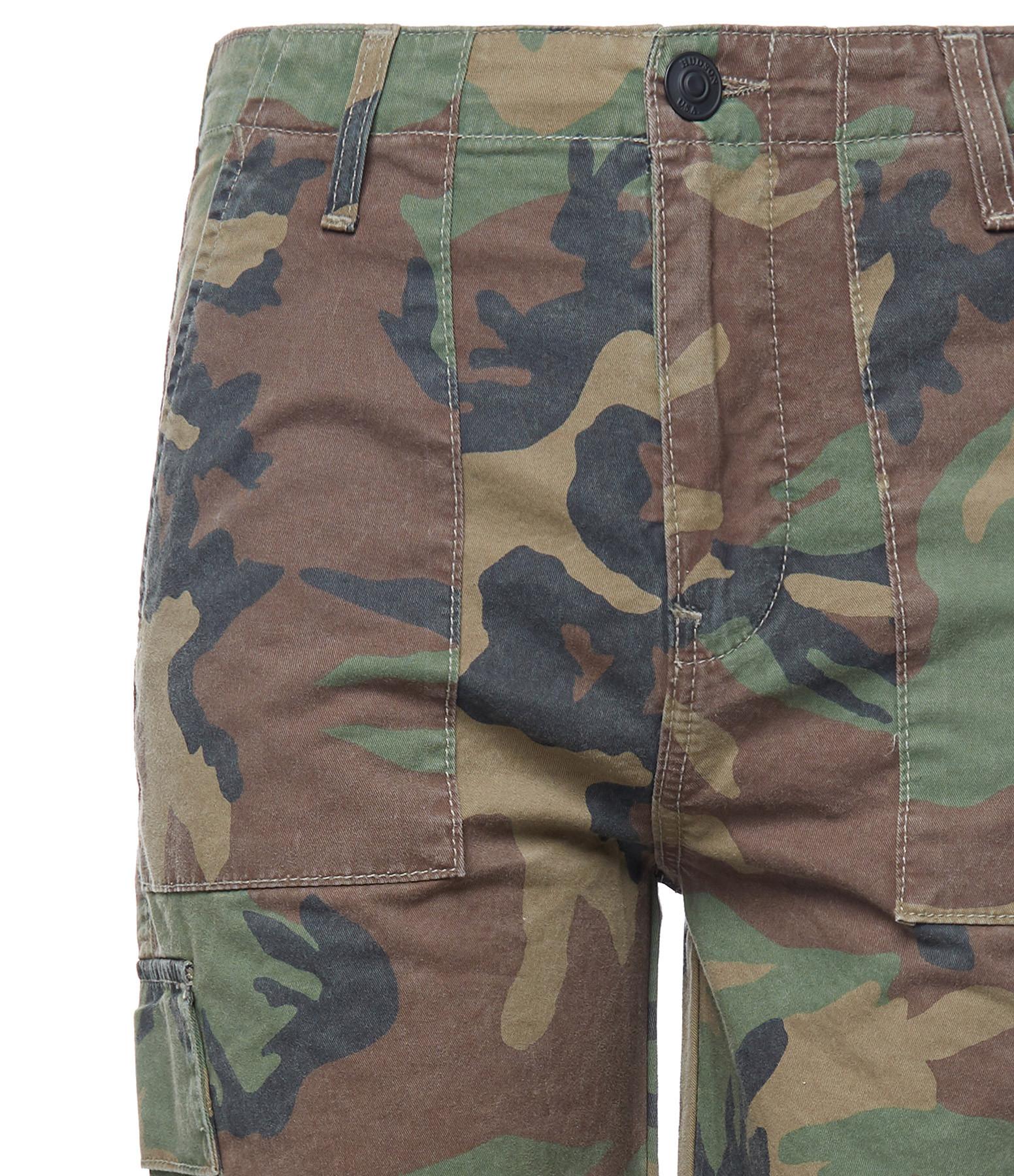 HUDSON JEANS - Pantalon Cargo Taille Haute Stone Camo