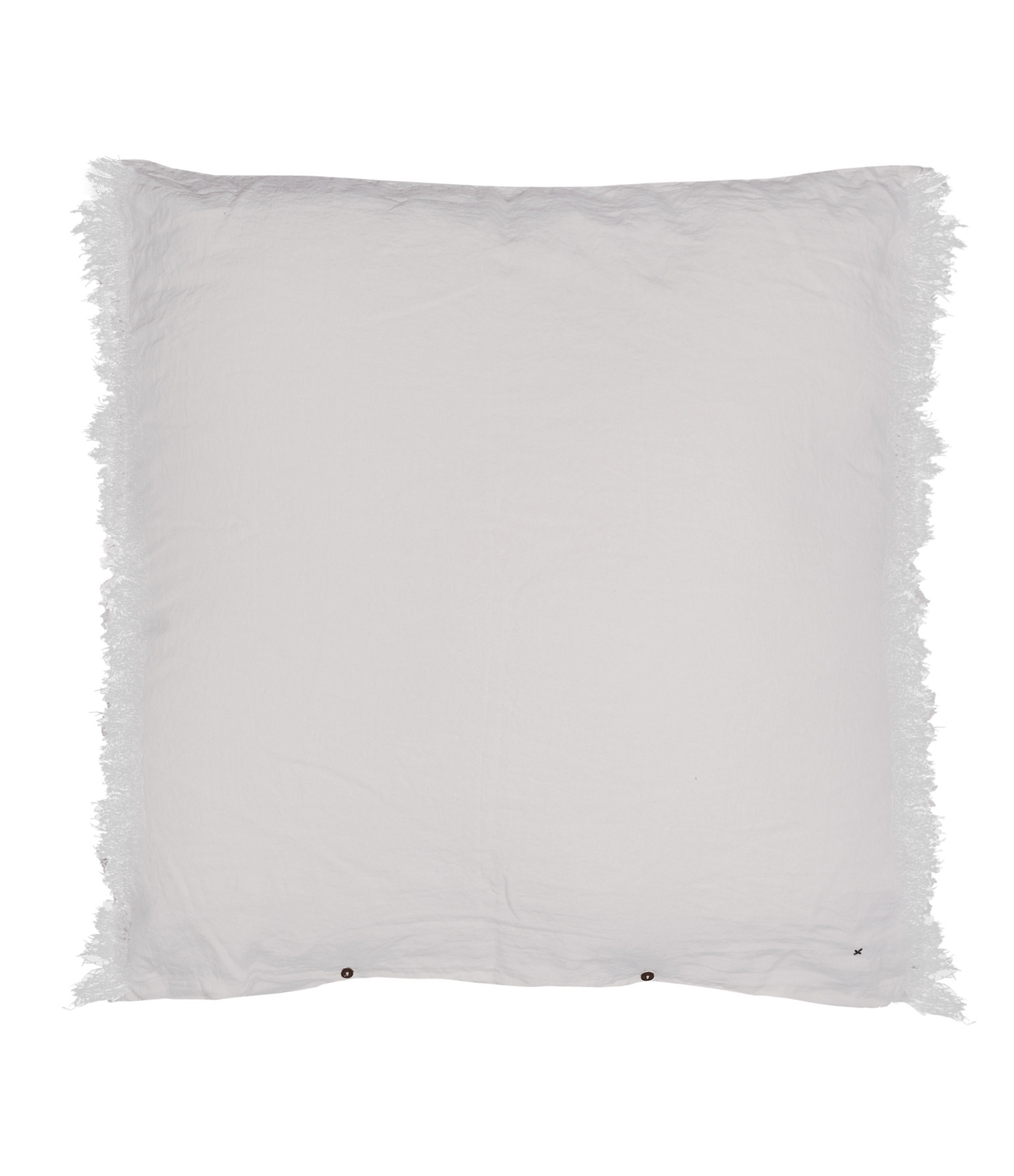 BED AND PHILOSOPHY - Grand Coussin Hug Frangé Lin Plume