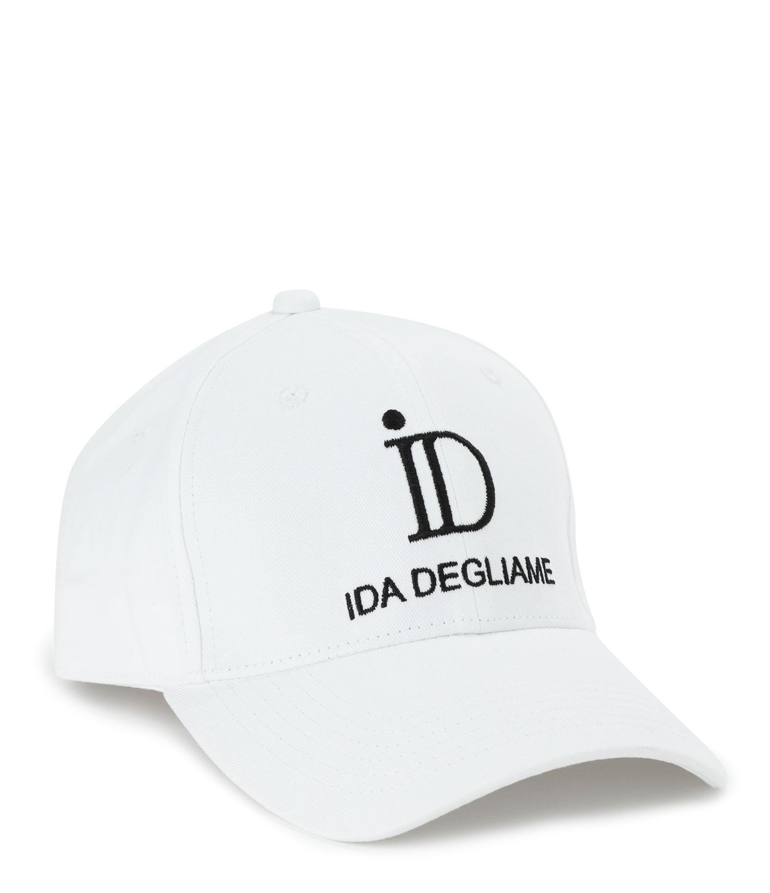 IDA DEGLIAME - Casquette ID Noir Blanc