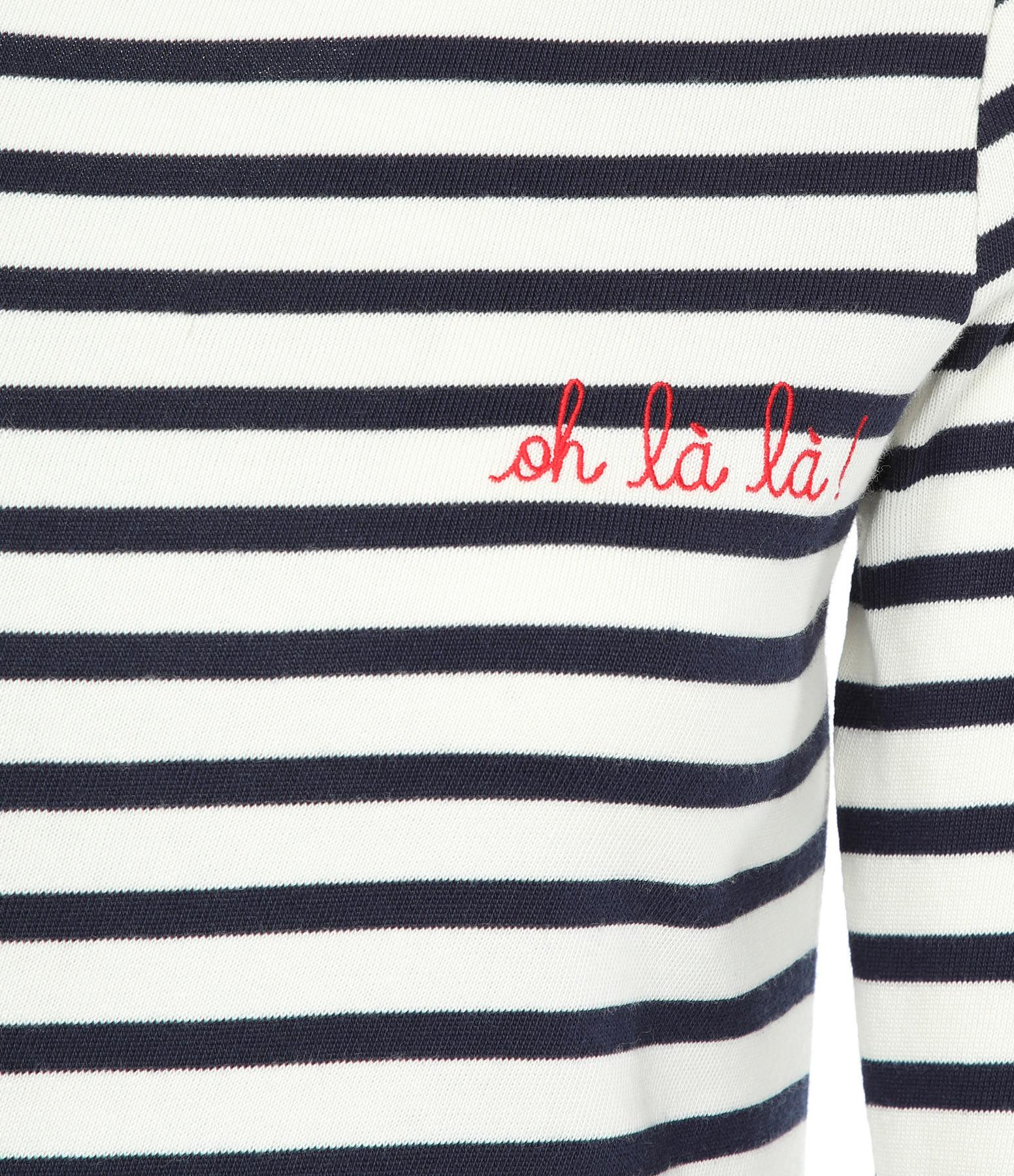 MAISON LABICHE - Tee-shirt Sailor Oh La La ! Ivoire Navy Rouge