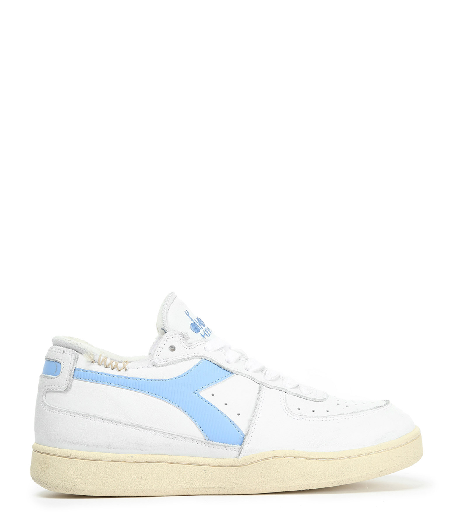 DIADORA - Baskets Mi Basket Row Cut Blanc Bleu
