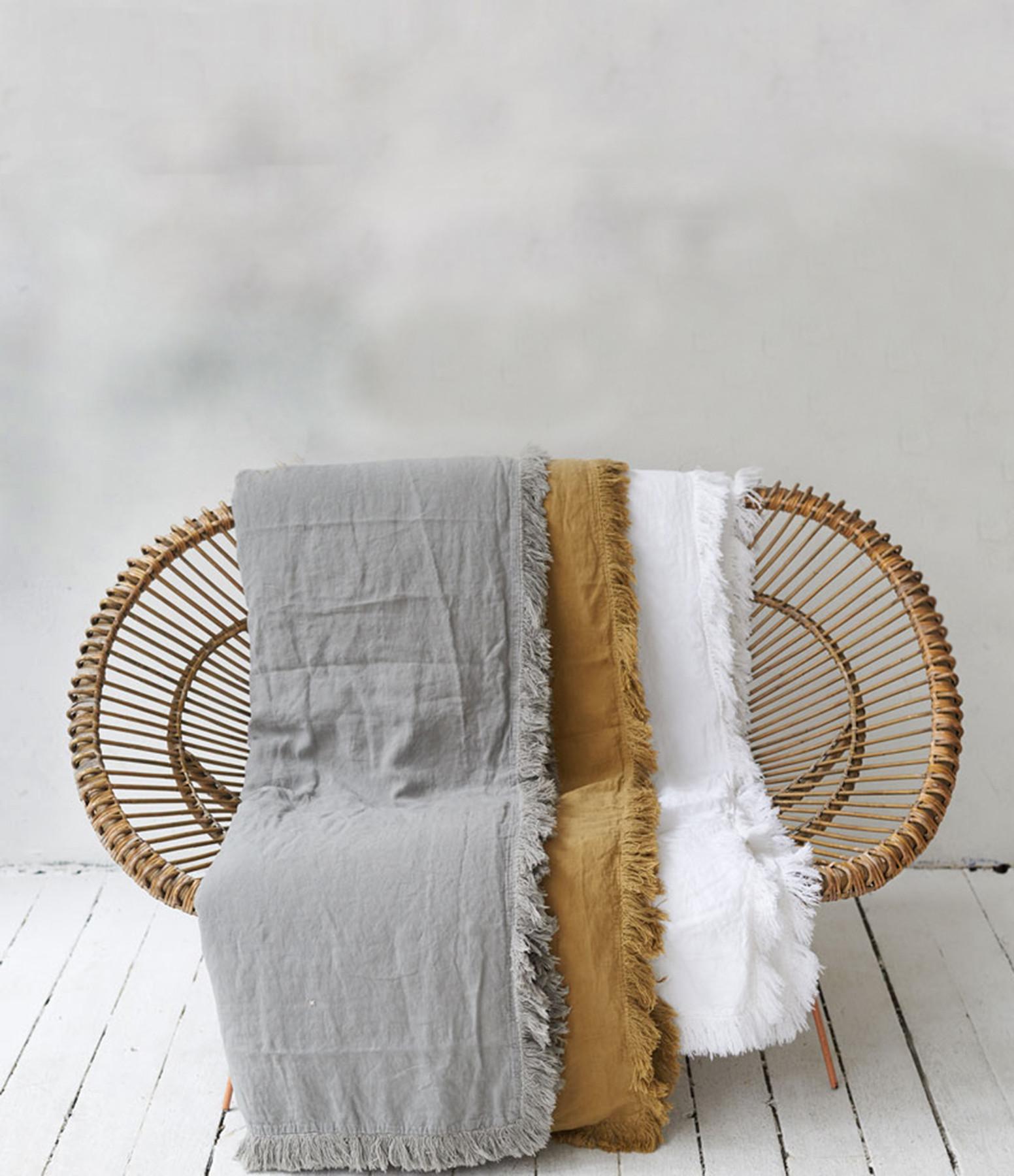 BED AND PHILOSOPHY - Édredon Snob Lin Rose Bud 90 x 190