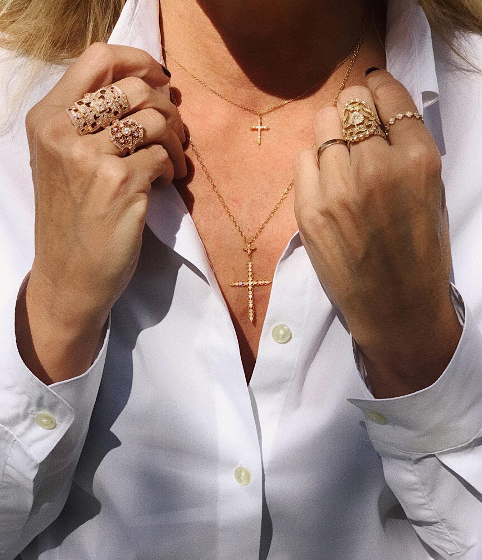 STONE PARIS - Pendentif Céleste Diamants GM Or Jaune