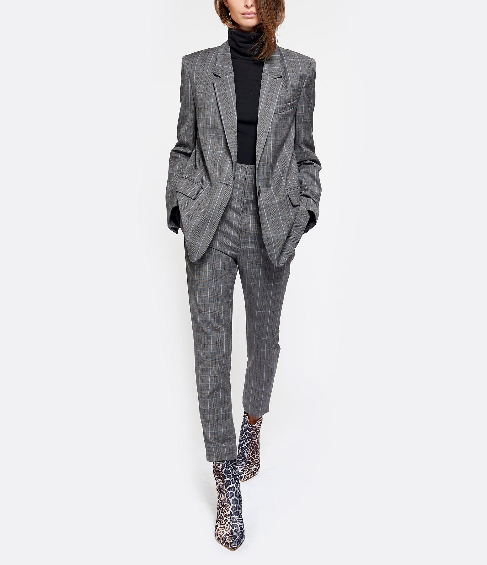 ISABEL MARANT ETOILE - Pantalon Noah Laine Gris