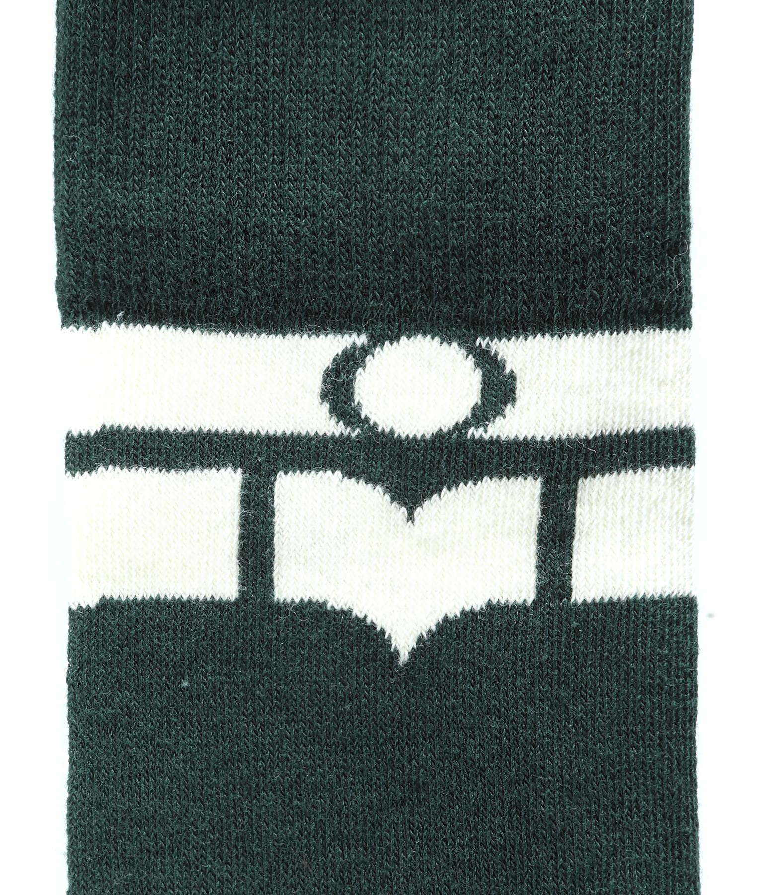 ISABEL MARANT ETOILE - Chaussettes Vibe Coton Vert Foncé