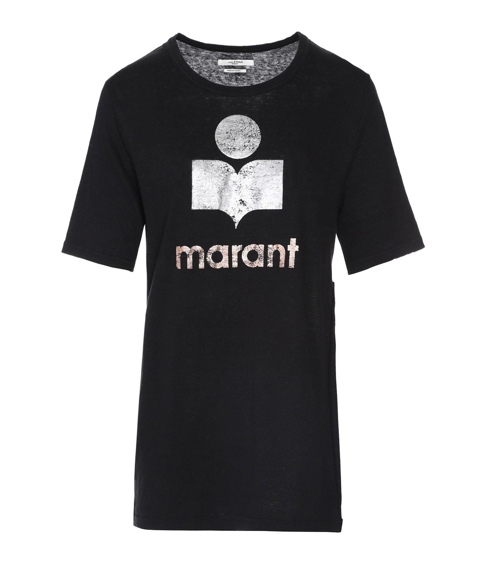ISABEL MARANT ÉTOILE - Tee-shirt Kuta Coton Noir