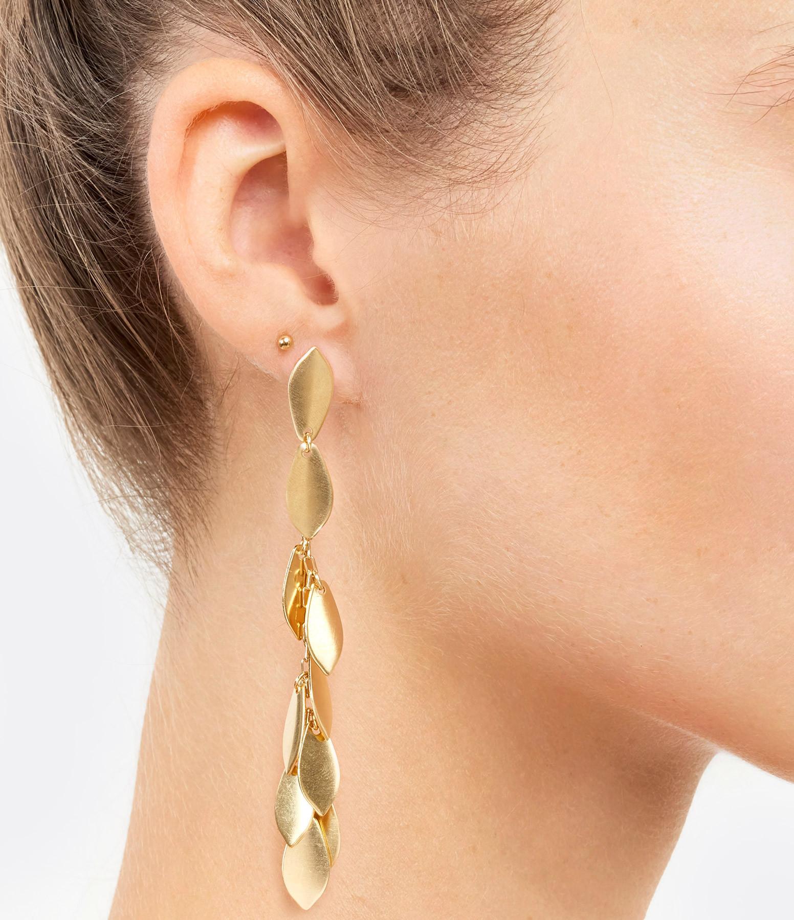 ISABEL MARANT - Boucles d'oreilles Longues Laiton Doré