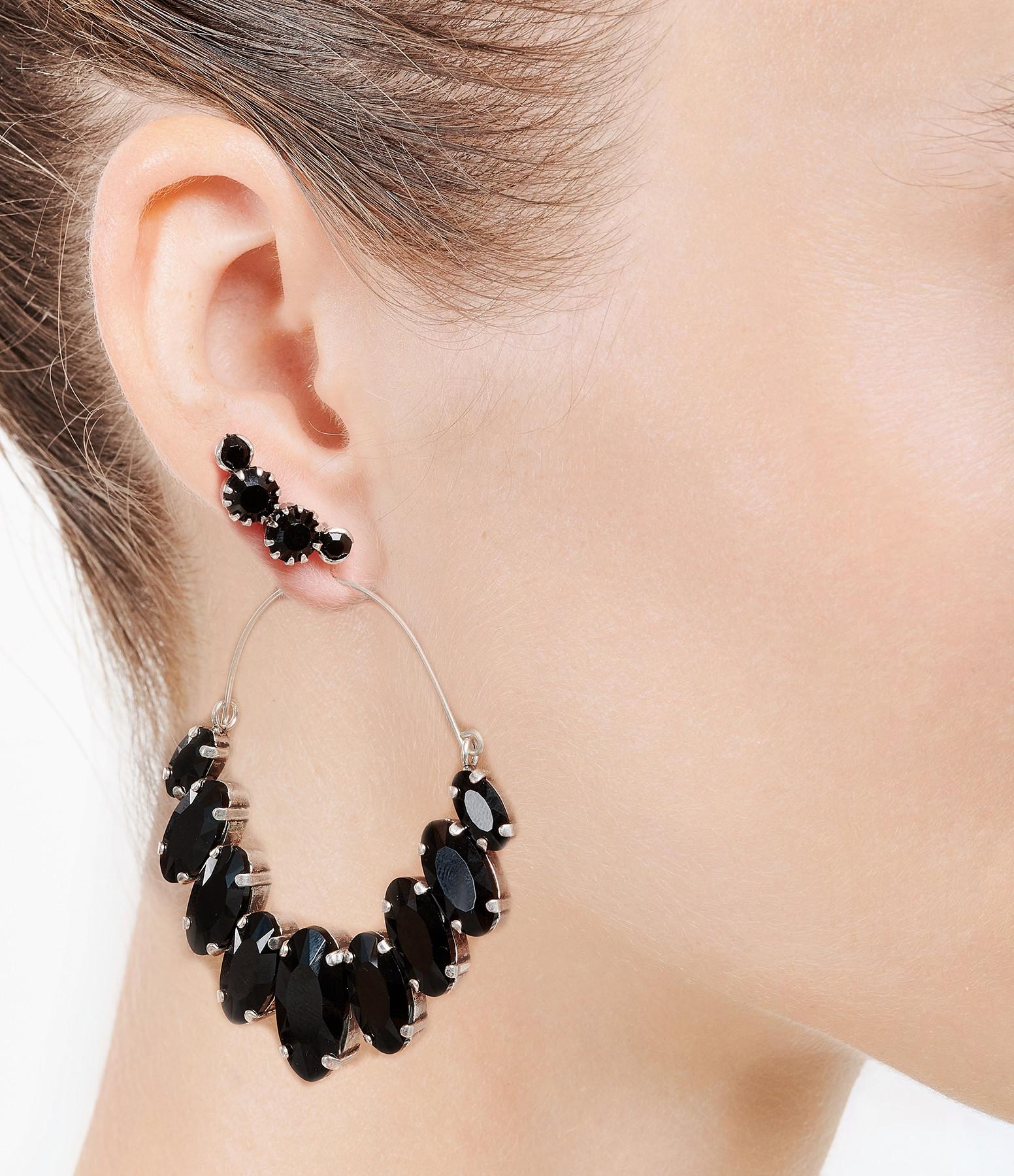 ISABEL MARANT - Boucles d'oreilles Noir Argenté