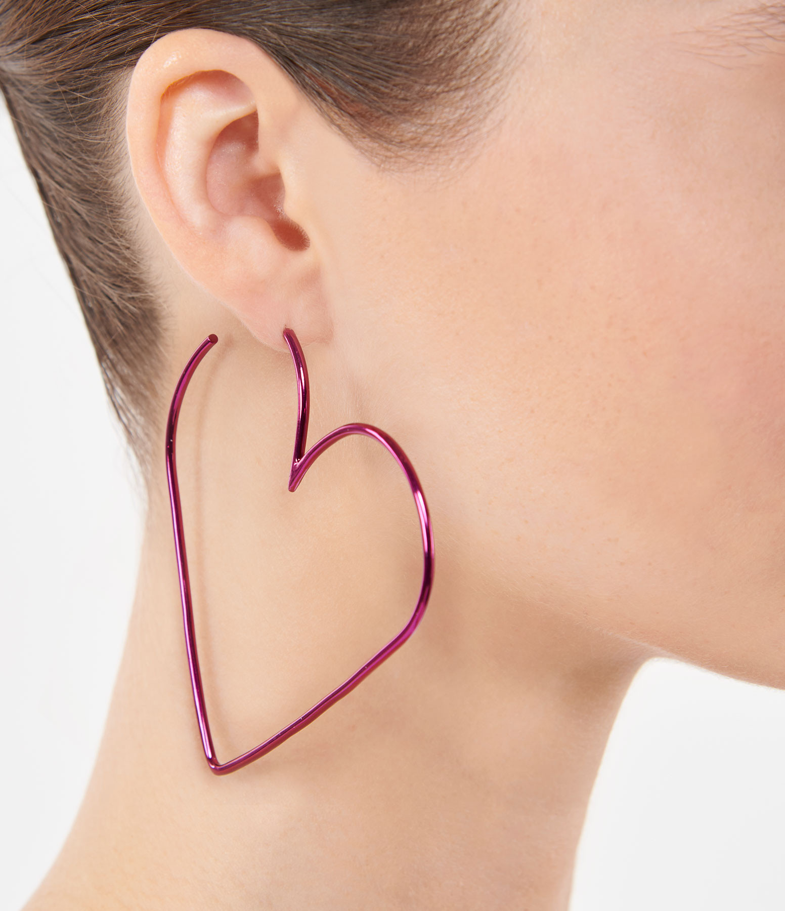 ISABEL MARANT - Boucles d'oreilles In Love Laiton Fushia