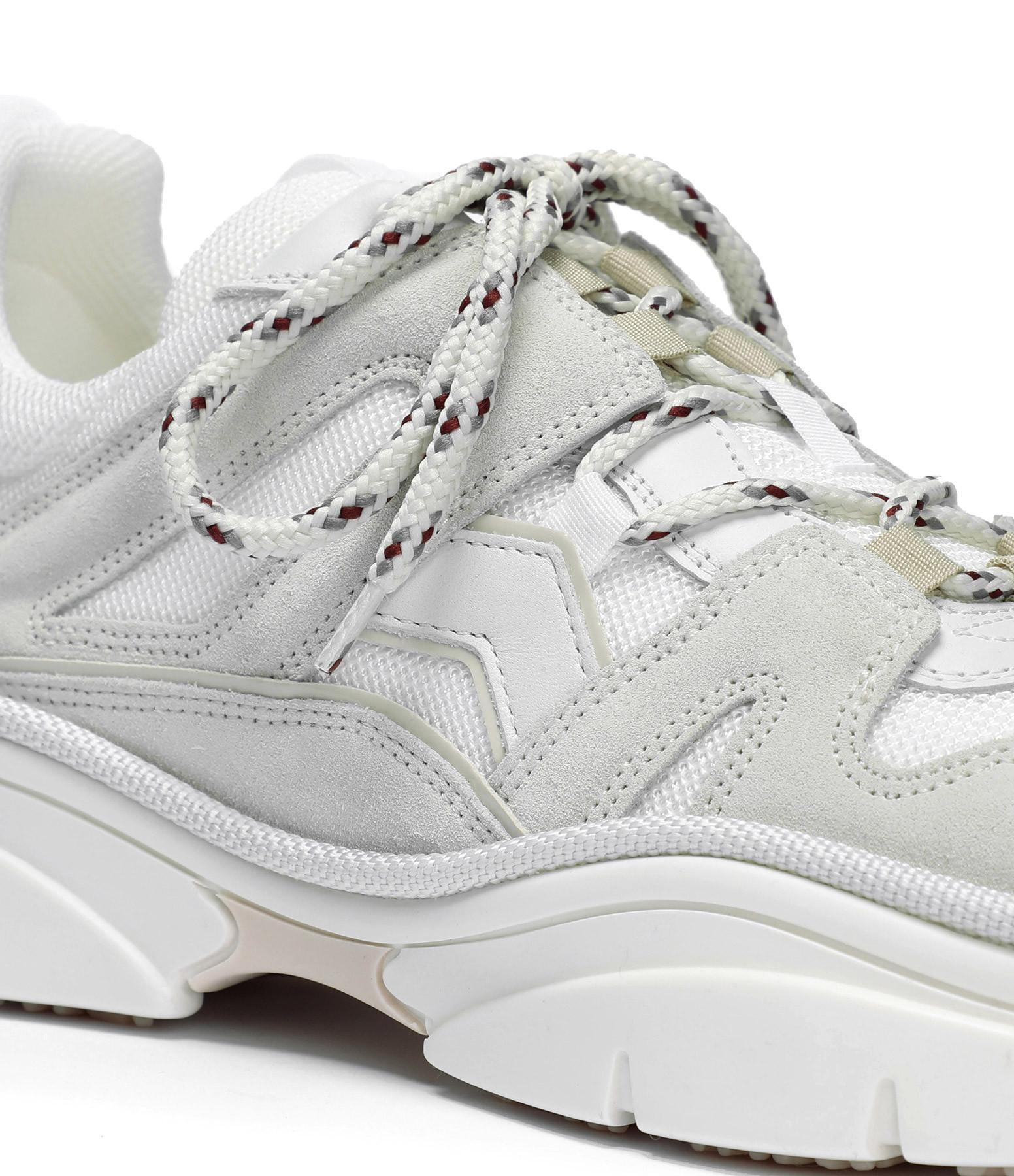 ISABEL MARANT - Baskets Kindsay Cuir Blanc Craie