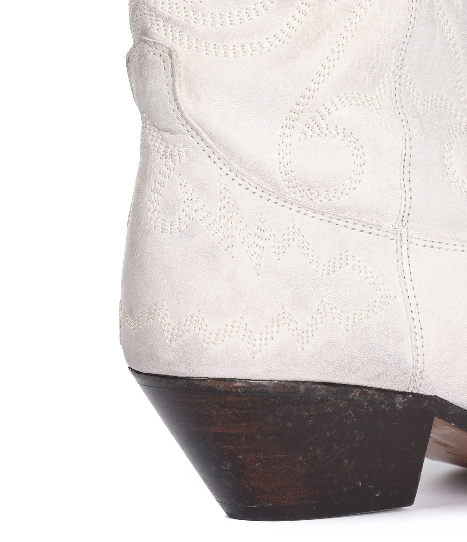 ISABEL MARANT - Bottines Duerto Cuir Blanc