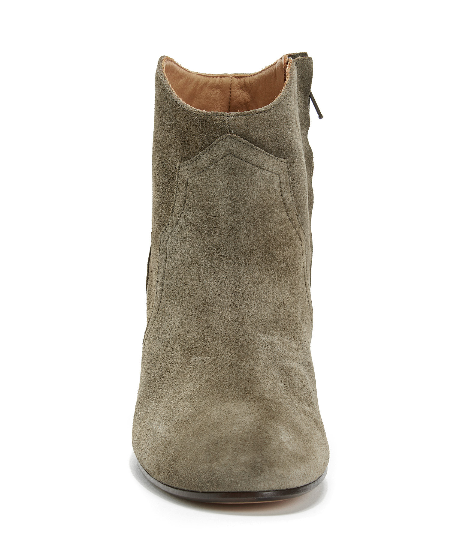 ISABEL MARANT - Bottines Dicker Veau Velours Taupe