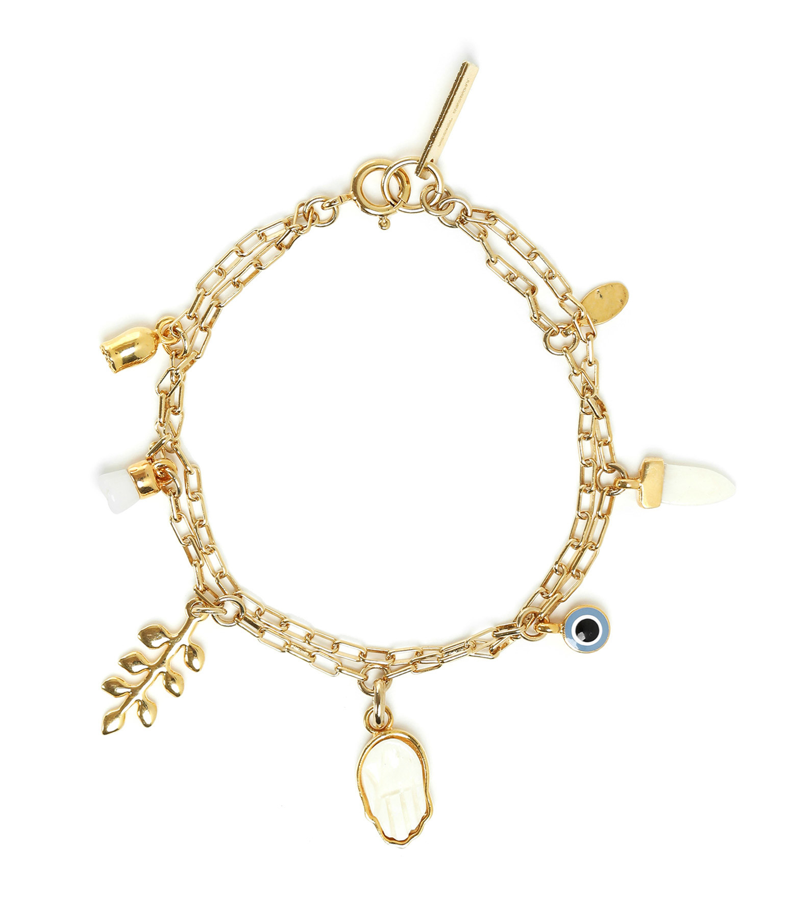ISABEL MARANT - Bracelet New Its All Laiton Buffle Écru
