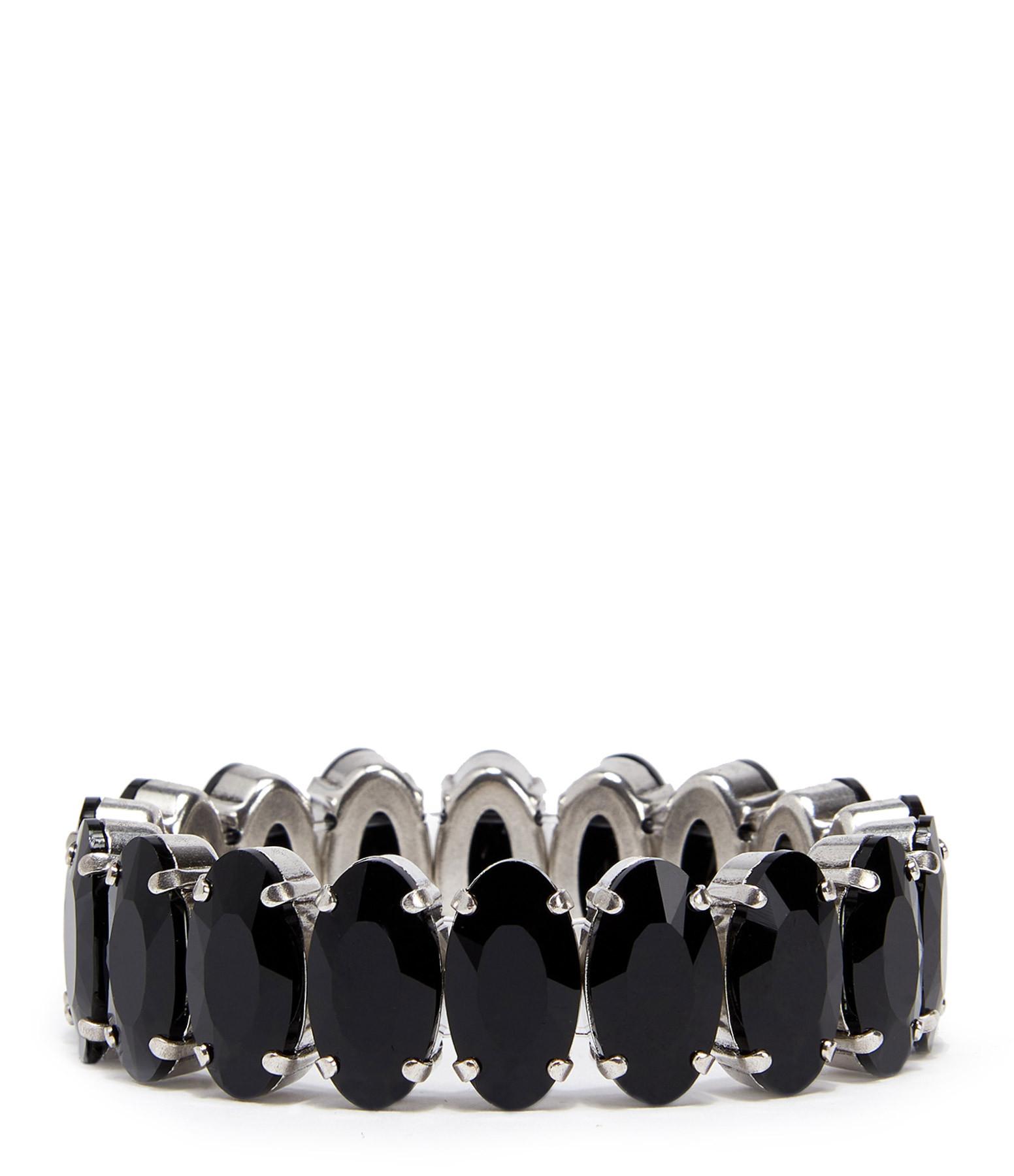 ISABEL MARANT - Bracelet Laiton Noir Argenté