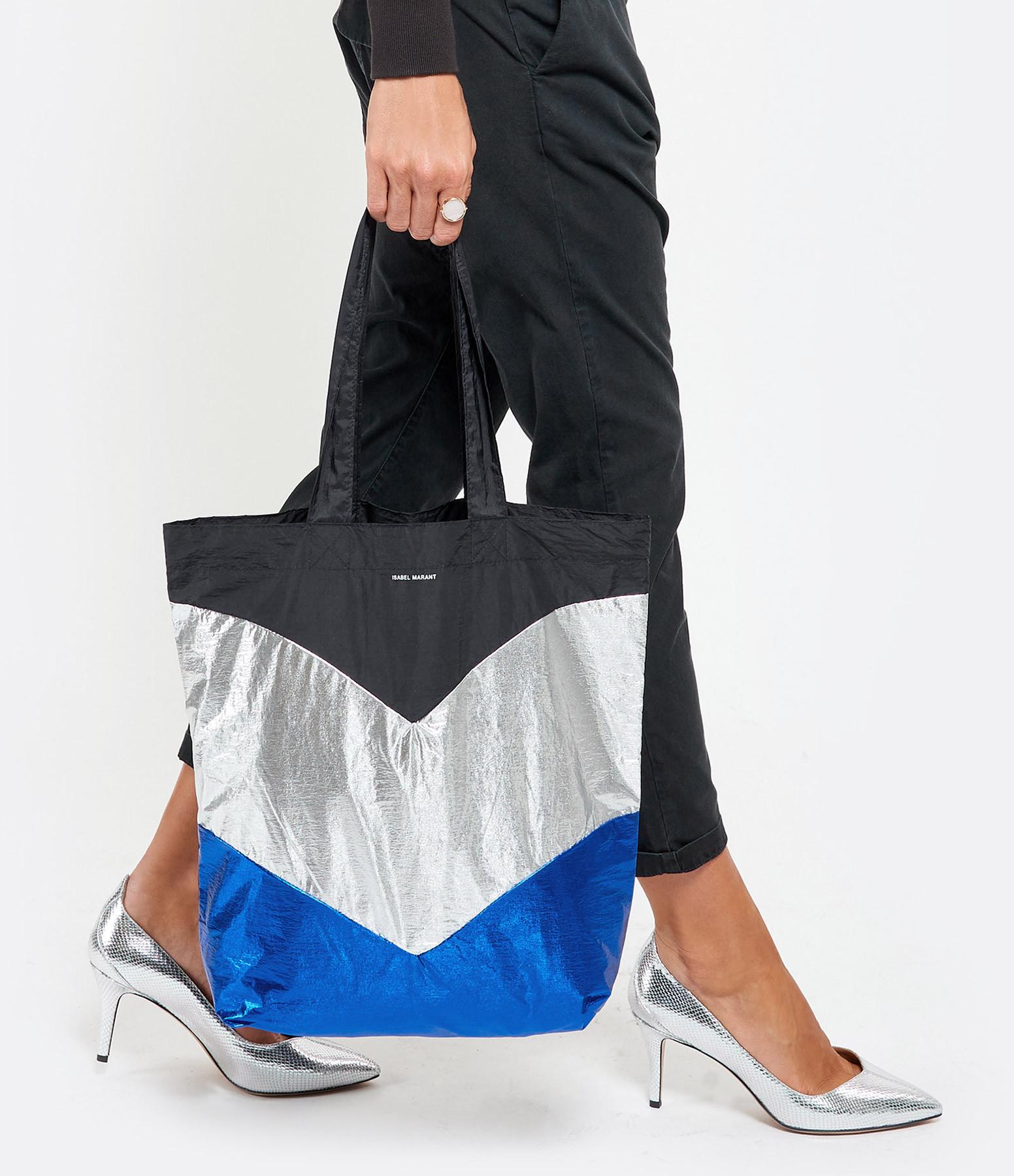 ISABEL MARANT - Sac Woom Bleu Noir Délavé