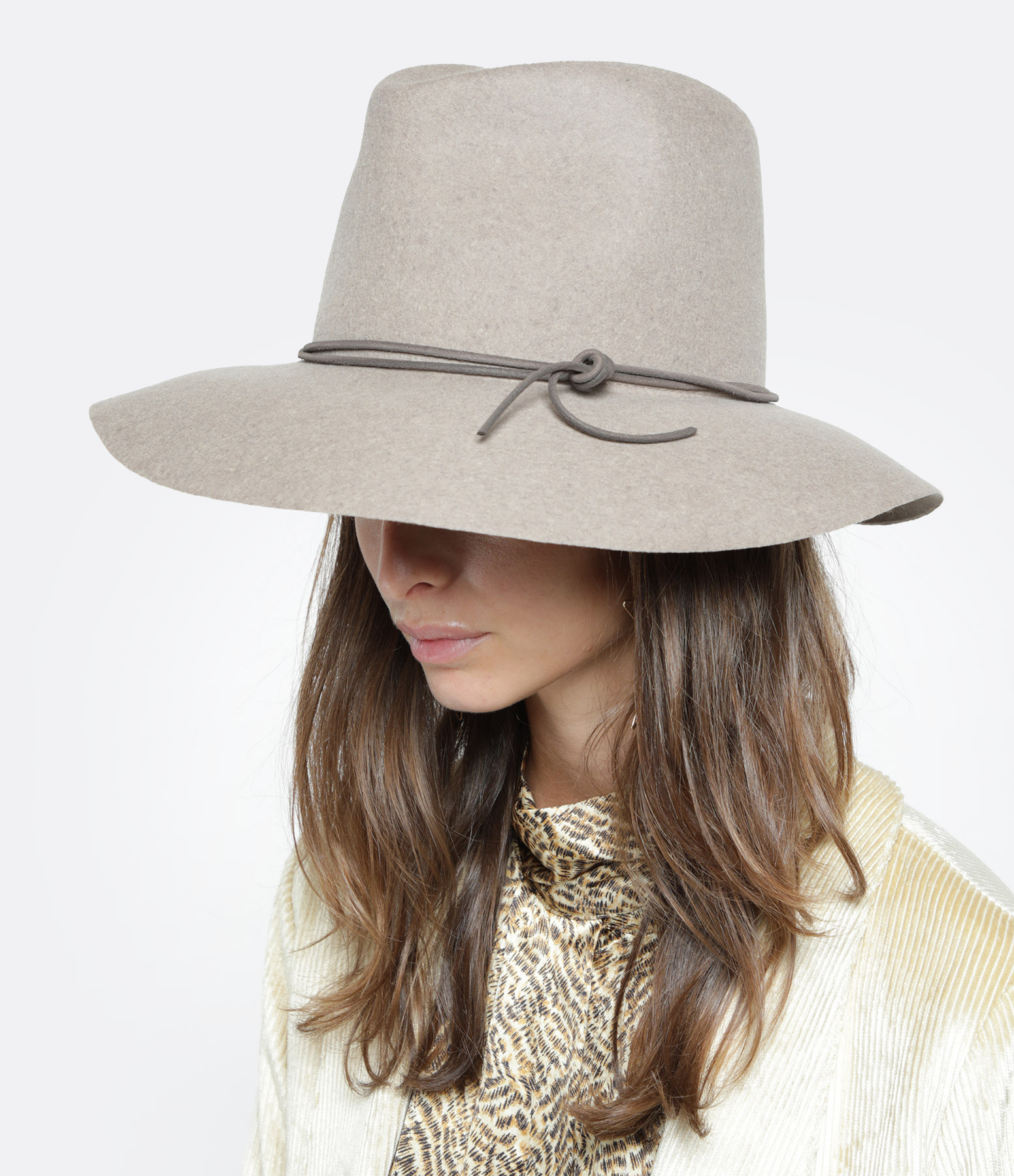ISABEL MARANT - Chapeau Kinly Laine Taupe