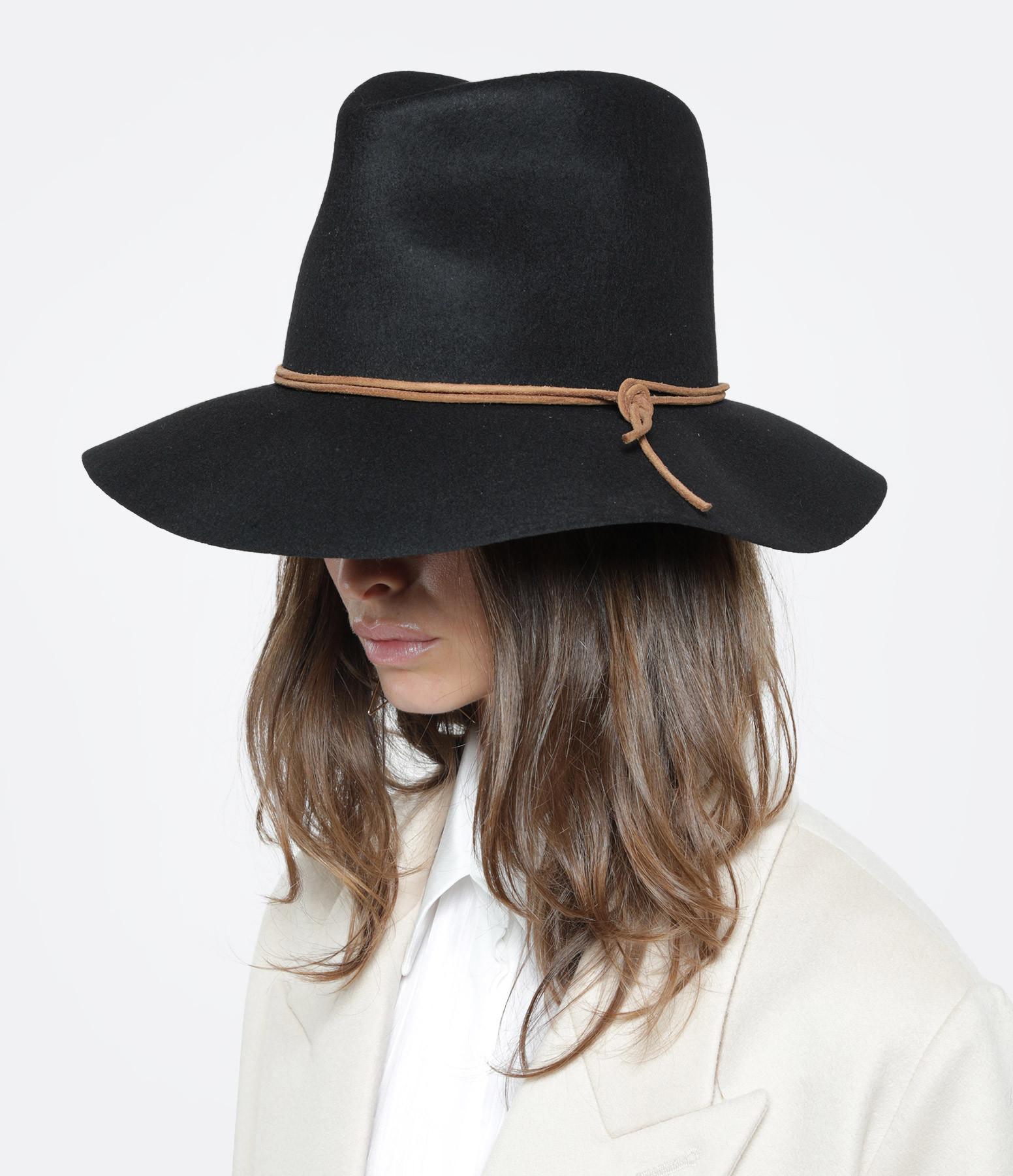 ISABEL MARANT - Chapeau Kinly Laine Noir