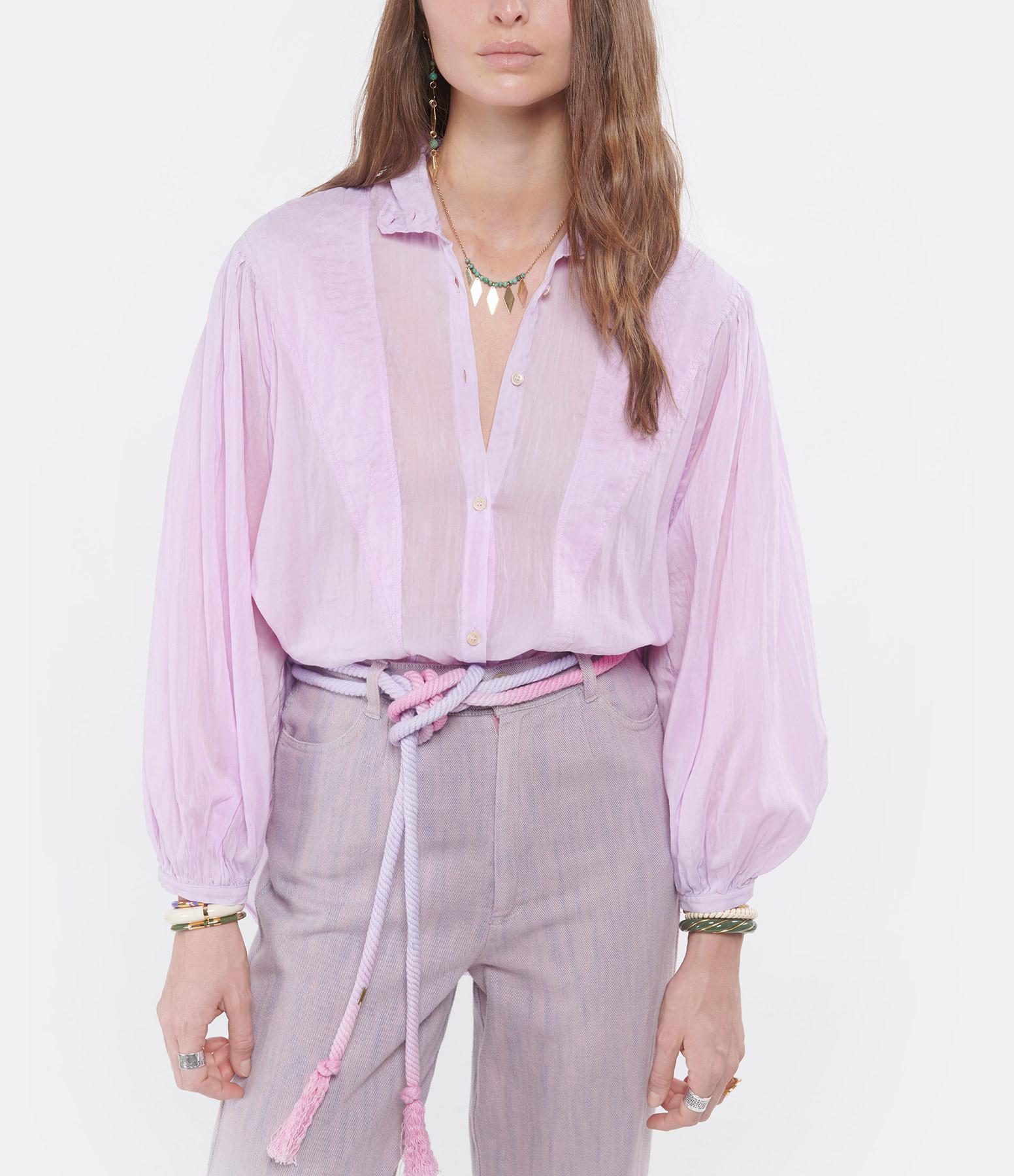 ISABEL MARANT - Ceinture Lyma Coton Tie and Dye Rose
