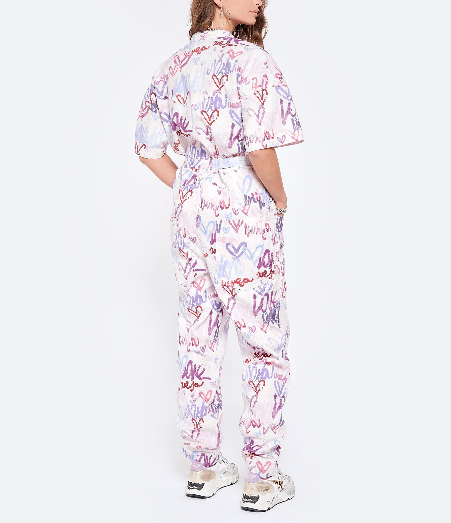 ISABEL MARANT - Combinaison Etundra Lin Coton Multicolore