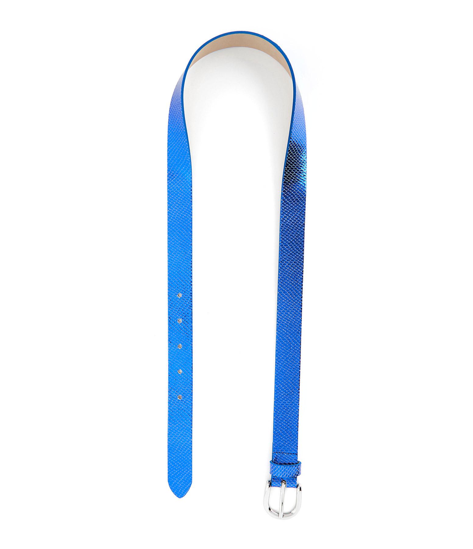 ISABEL MARANT - Ceinture Zap Cuir Bleu