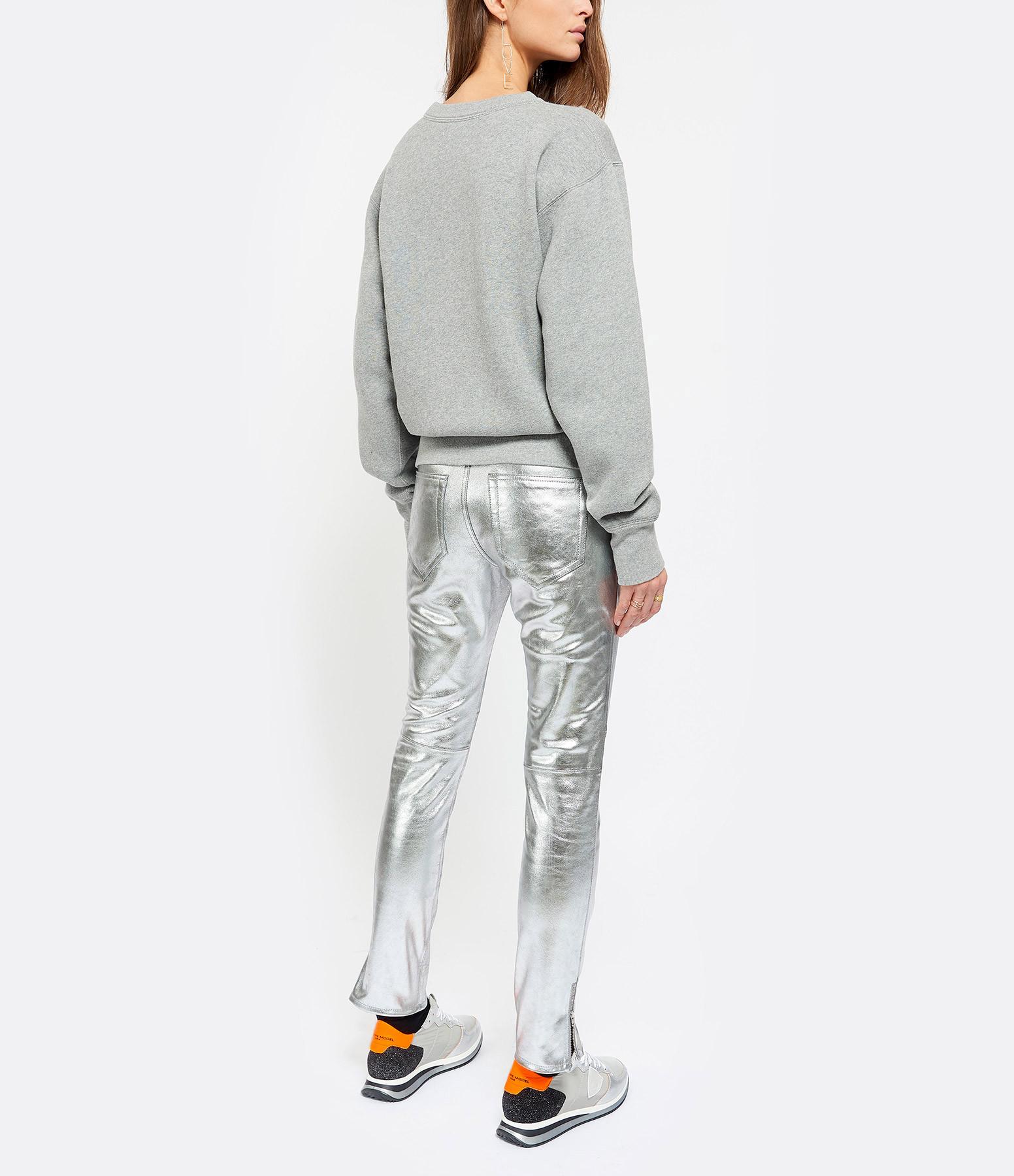 Sweatshirt Rise Coton Gris