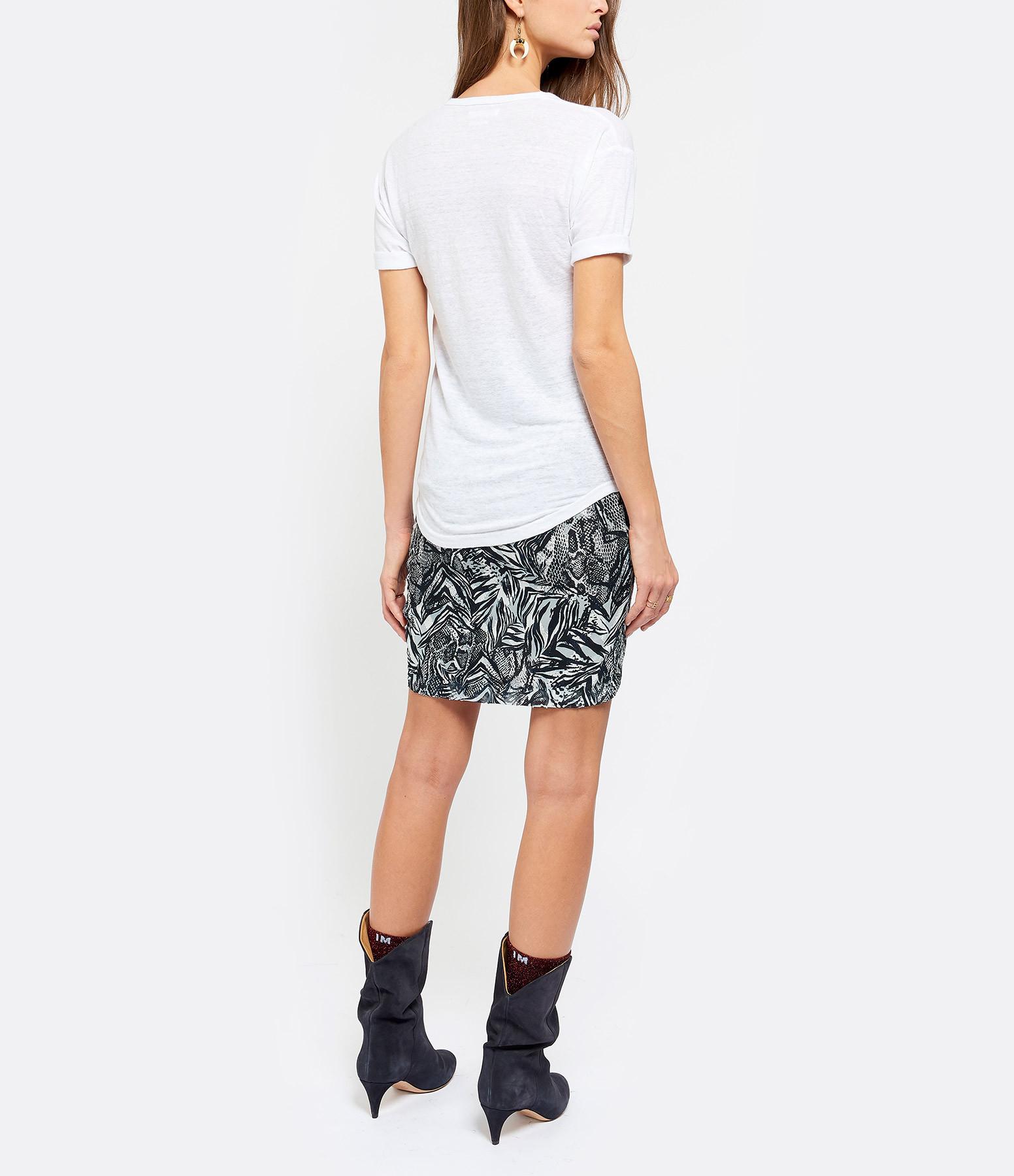 ISABEL MARANT ÉTOILE - Tee-shirt Koldi Logo Lin Blanc