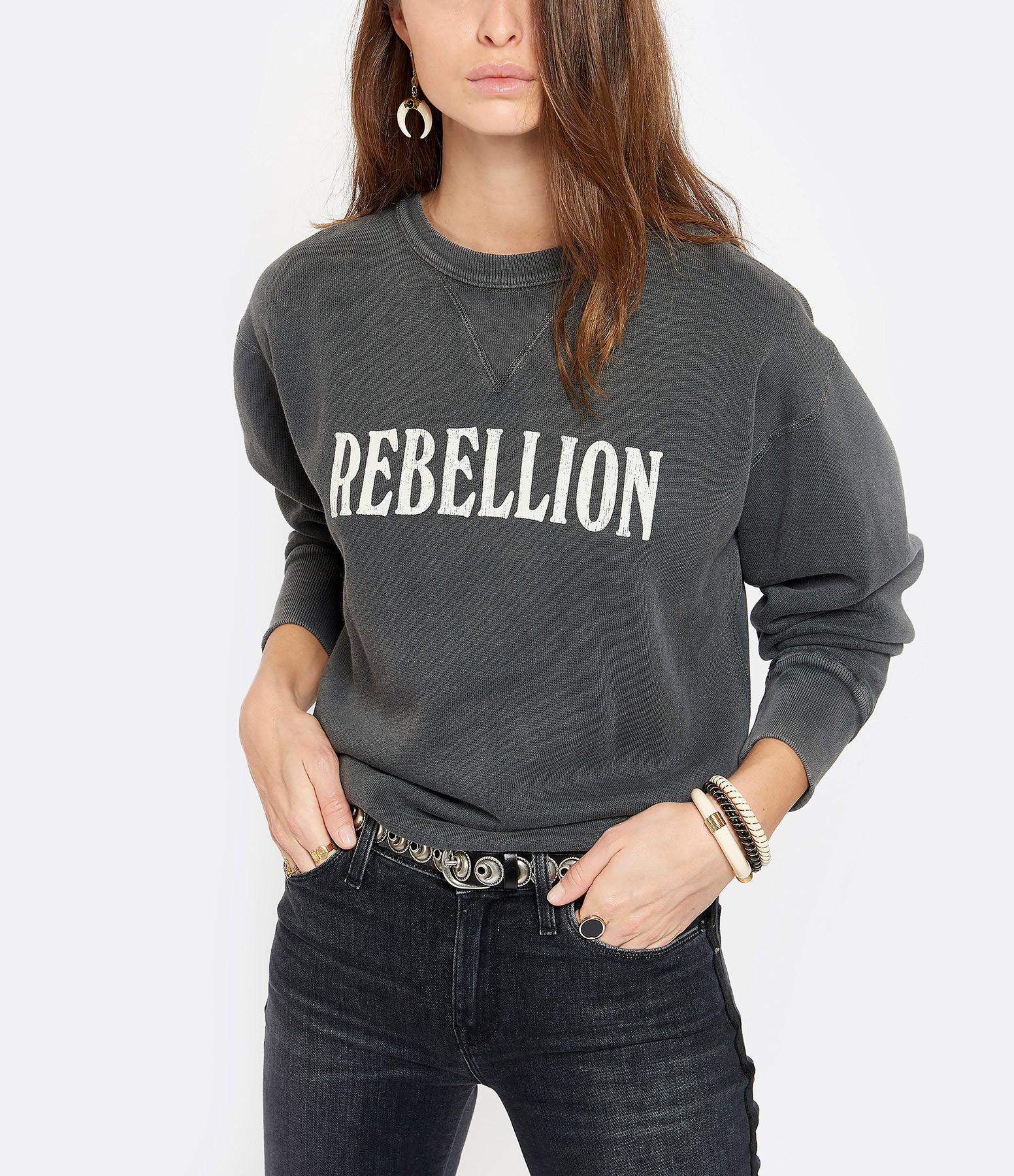 Sweatshirt Rise Coton Noir