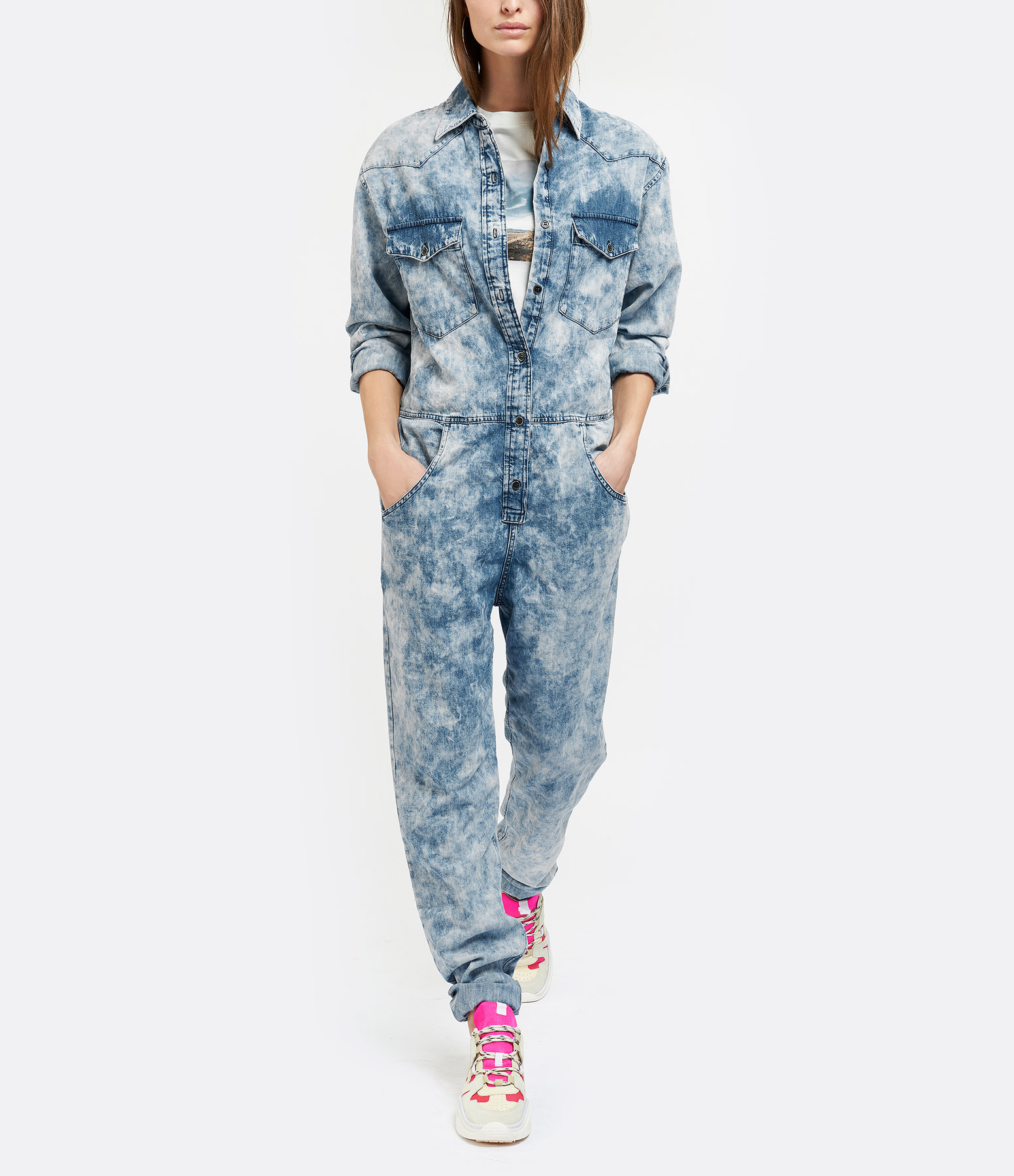 ISABEL MARANT ÉTOILE - Combinaison Idesia Coton Bleu