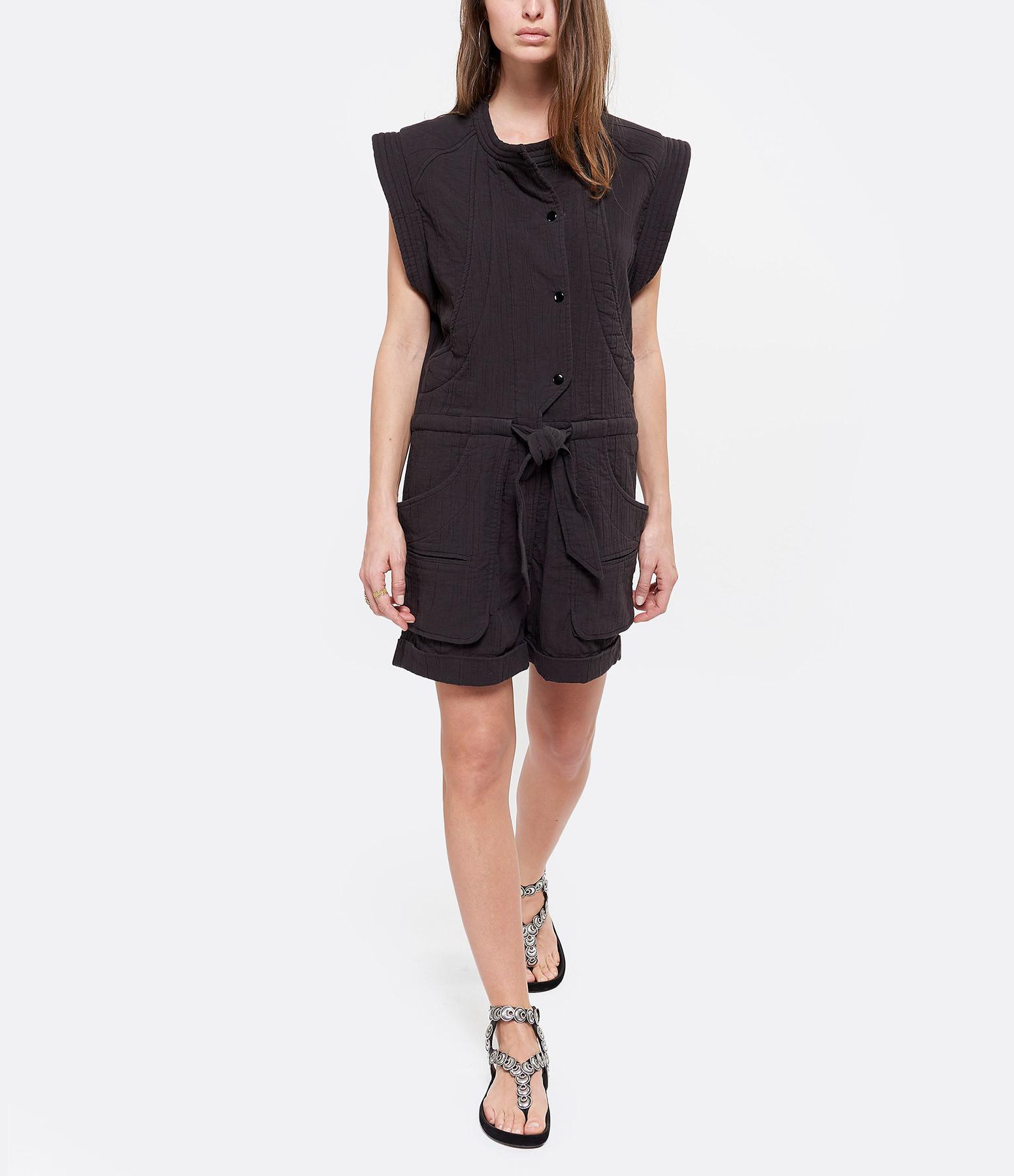 ISABEL MARANT ÉTOILE - Combinaison Blithe Coton Noir Délavé