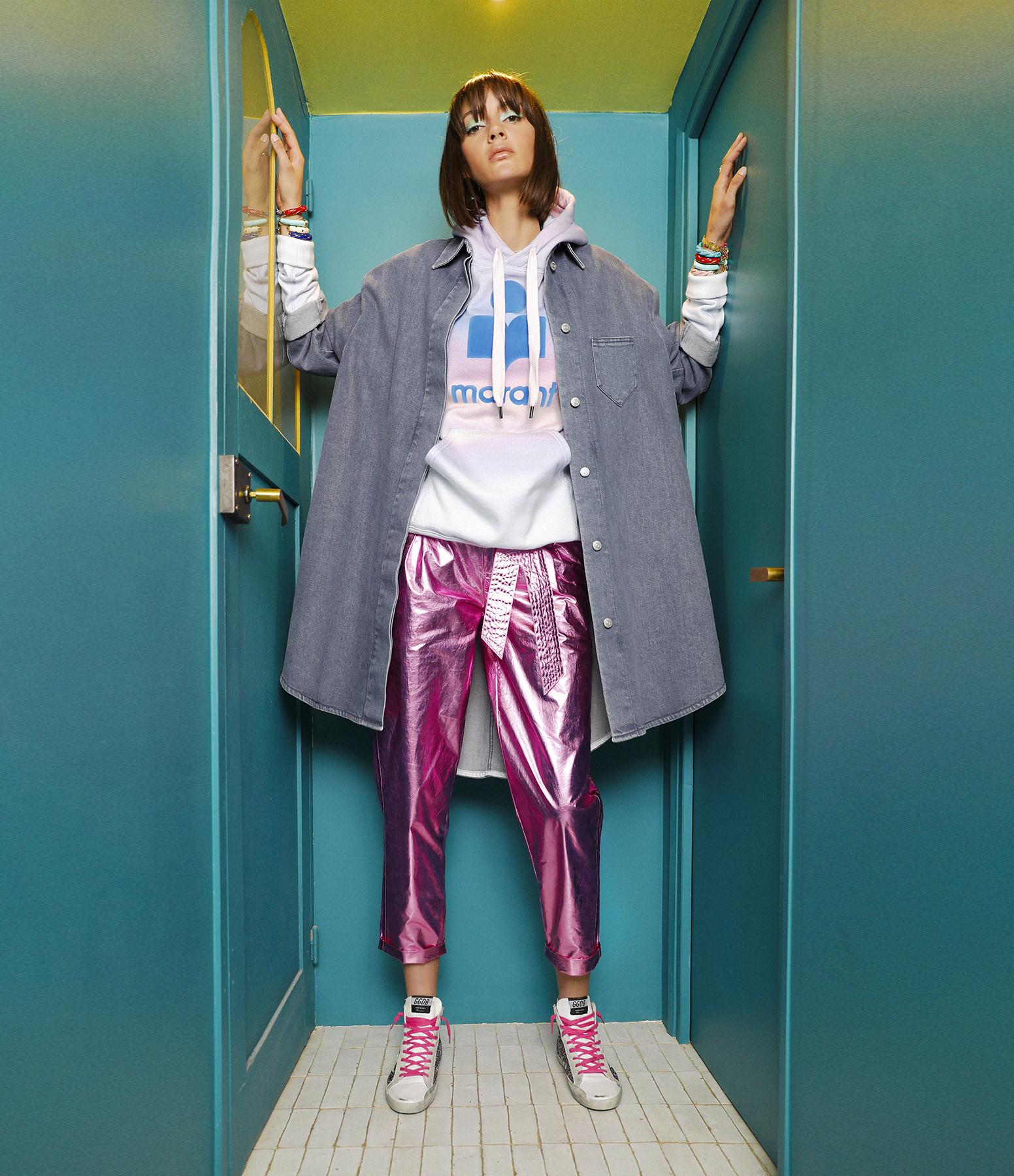 ISABEL MARANT ÉTOILE - Sweatshirt Mansel Coton Bleu Rose
