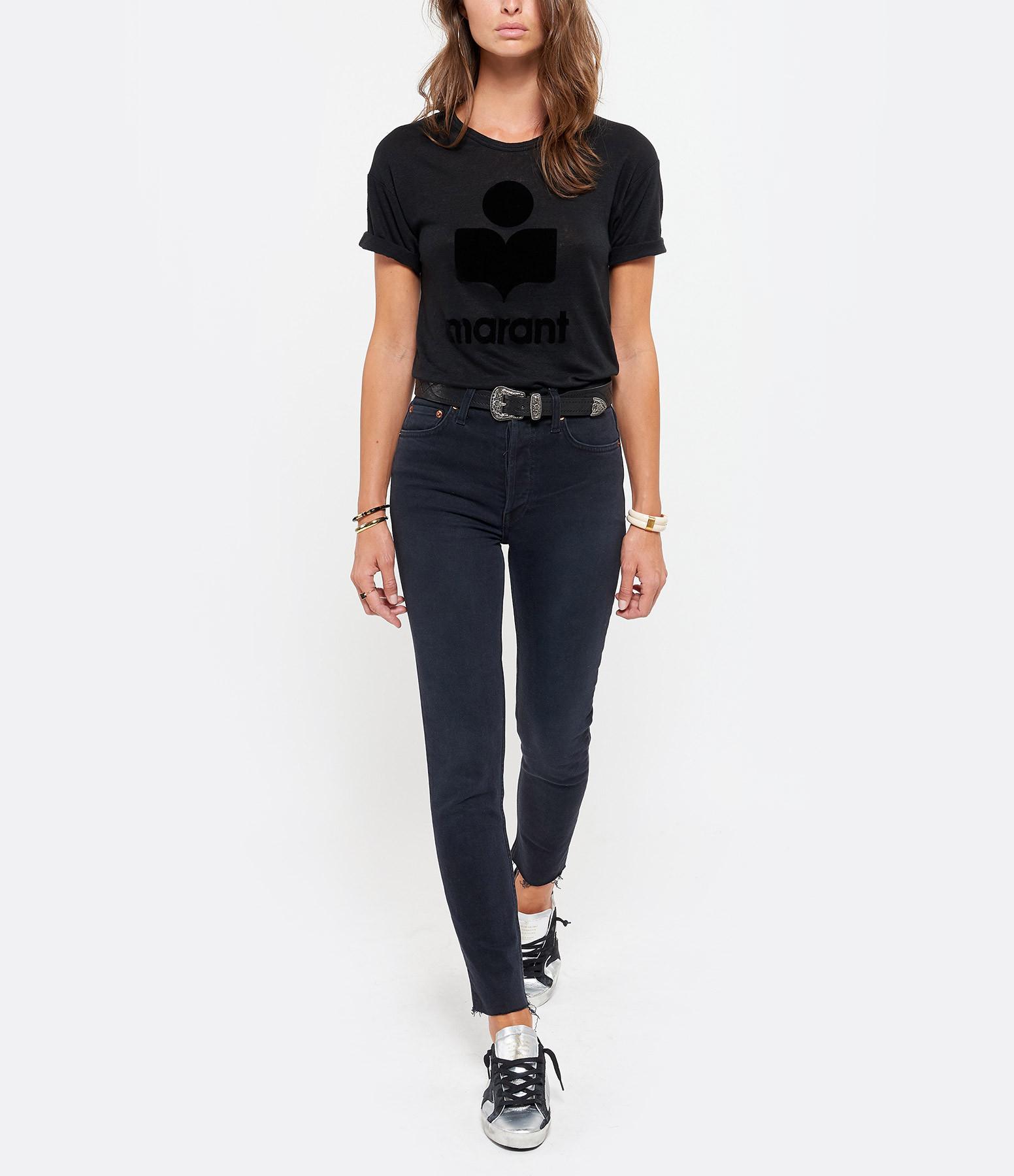 ISABEL MARANT ÉTOILE - Tee-shirt Koldi Lin Noir