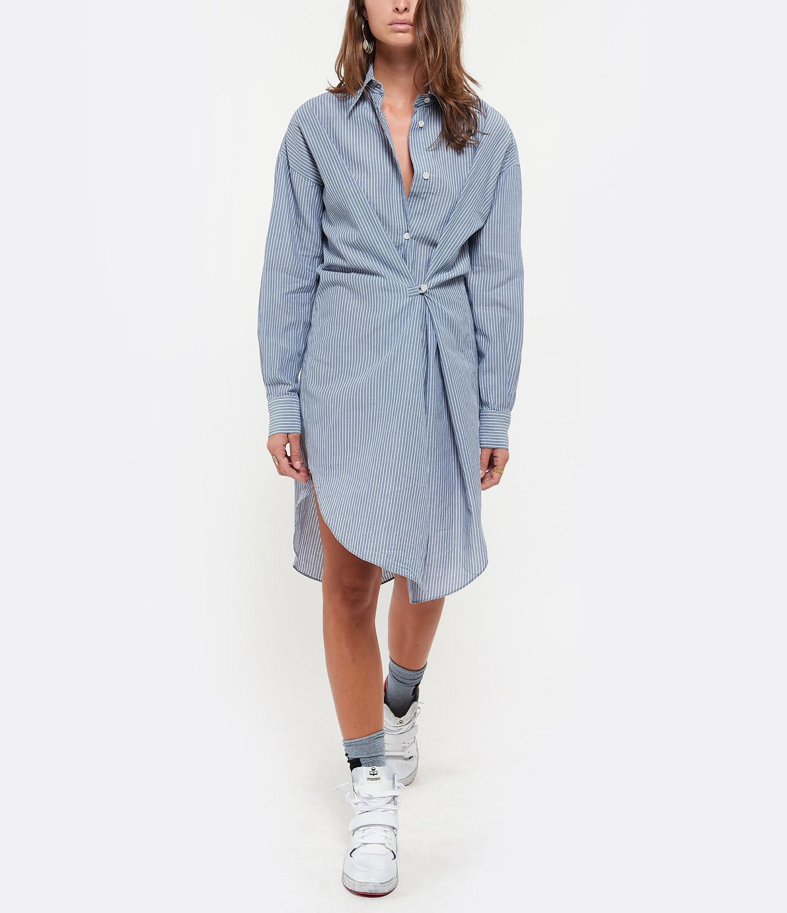 ISABEL MARANT ÉTOILE - Robe Seen Coton Bleu