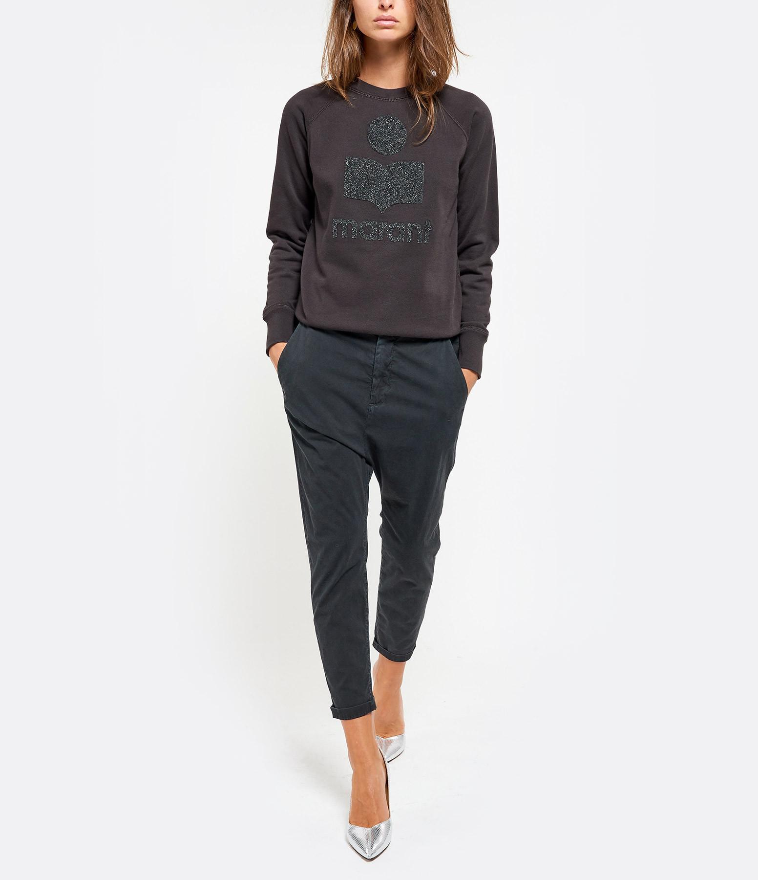 ISABEL MARANT ÉTOILE - Sweatshirt Milly Coton Noir Argenté