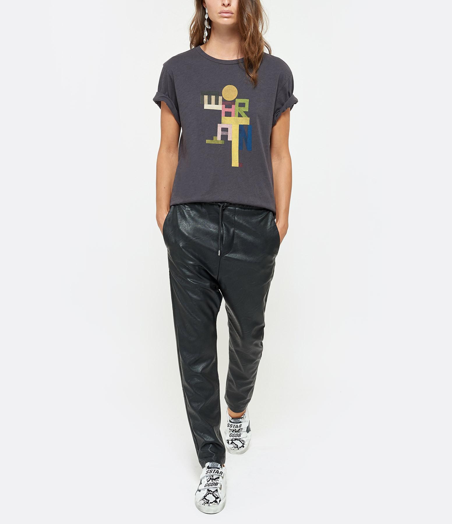 ISABEL MARANT ÉTOILE - Tee-shirt Zewel Coton Noir Délavé
