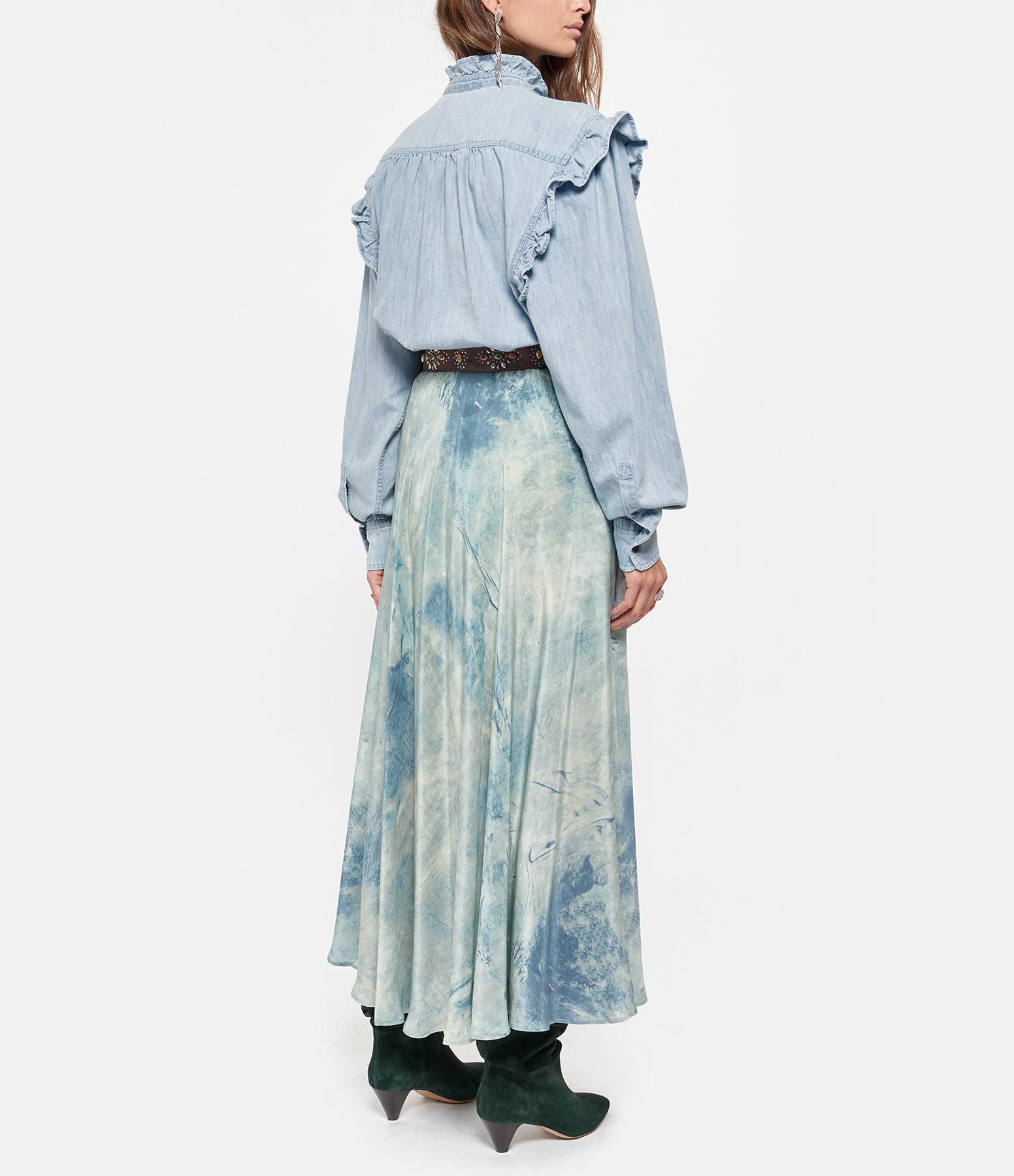 ISABEL MARANT ÉTOILE - Top Gossia Coton Bleu Clair