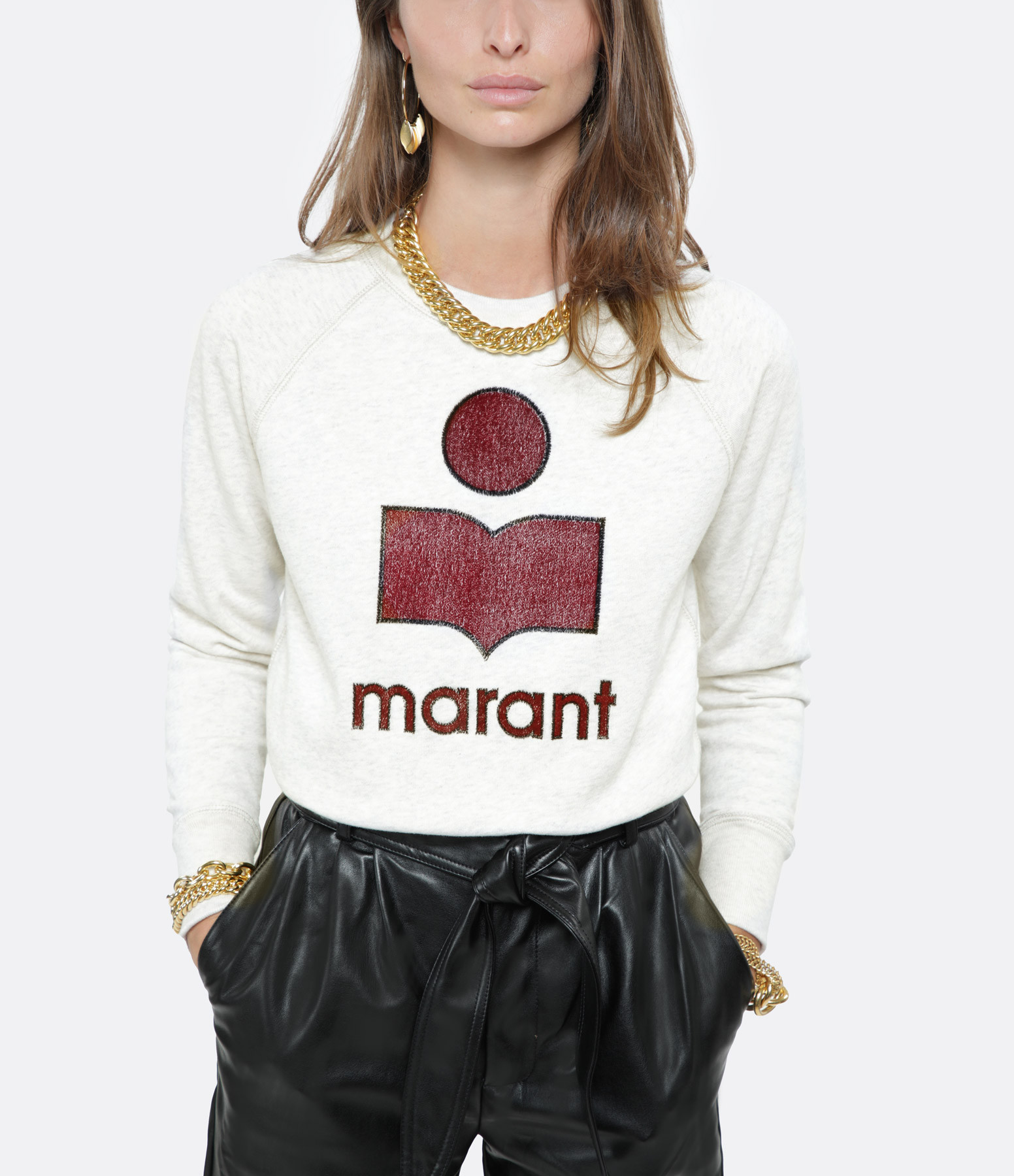 ISABEL MARANT ÉTOILE - Sweatshirt Milly Coton Écru