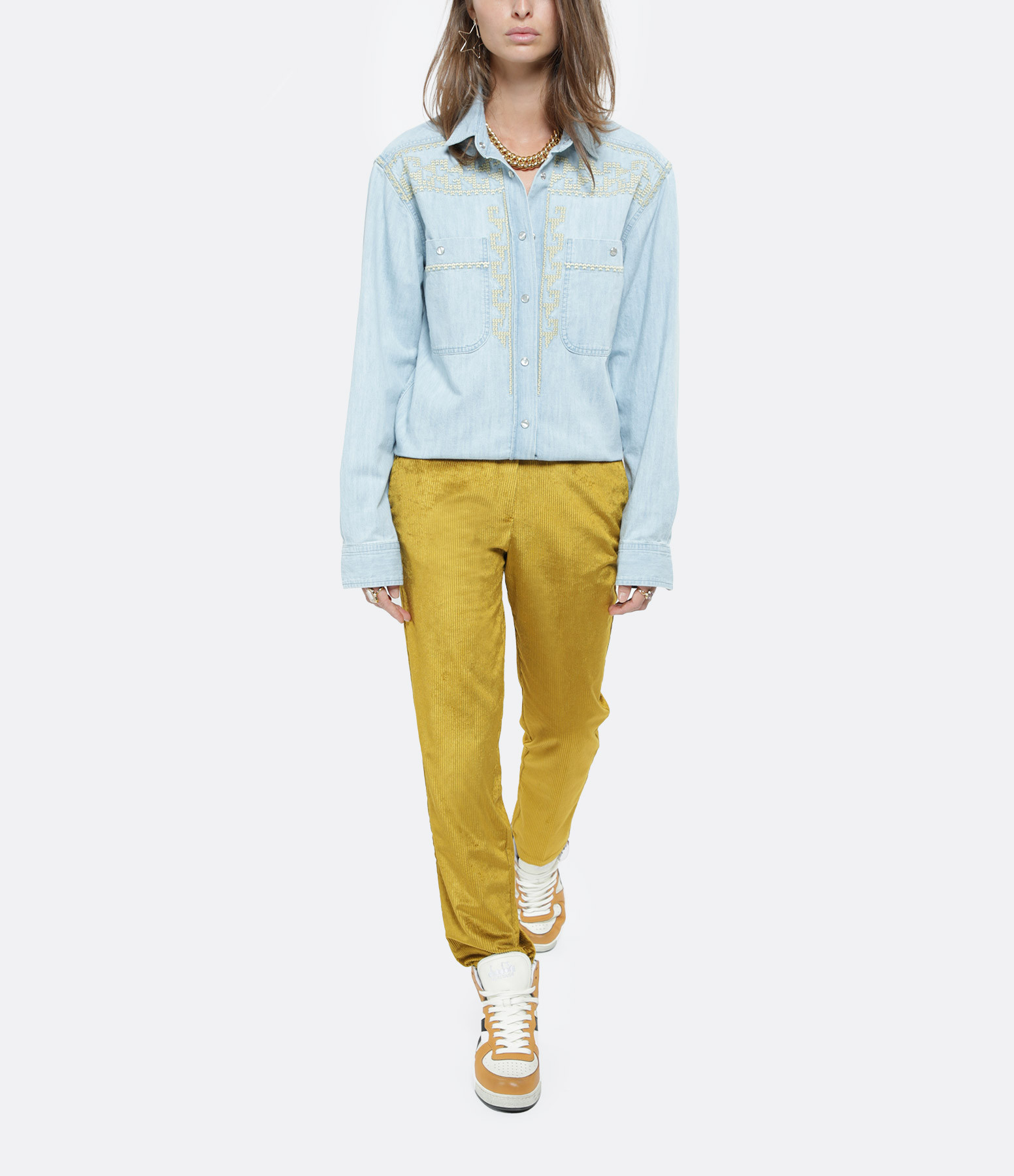 ISABEL MARANT ÉTOILE - Chemise Galise Coton Bleu