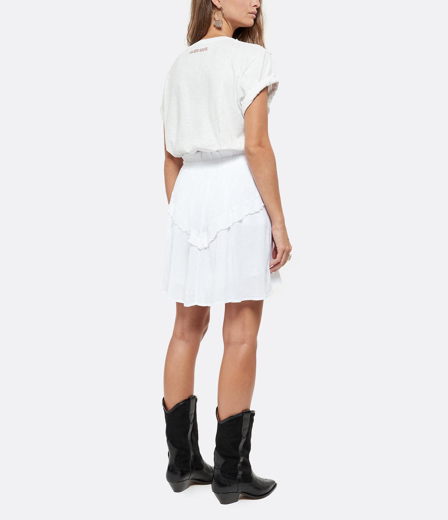 ISABEL MARANT ÉTOILE - Jupe Itelo Coton Blanc