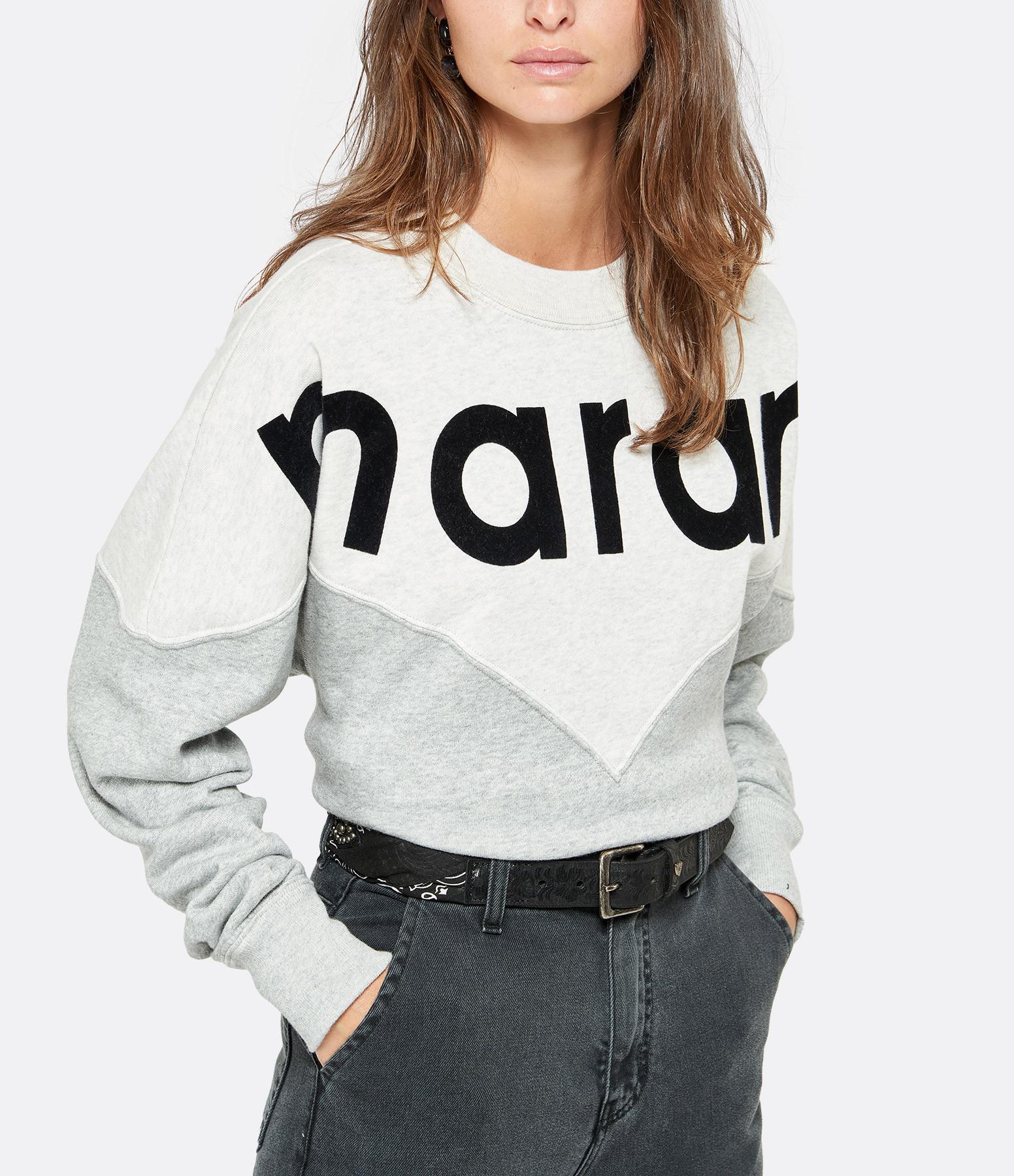 ISABEL MARANT ÉTOILE - Sweatshirt Houston Coton Gris